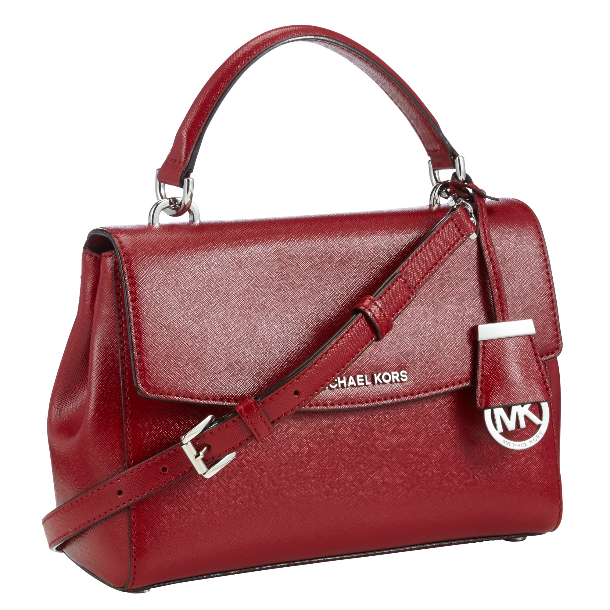 Michael Michael Kors Ava Small Leather Satchel In Red Lyst