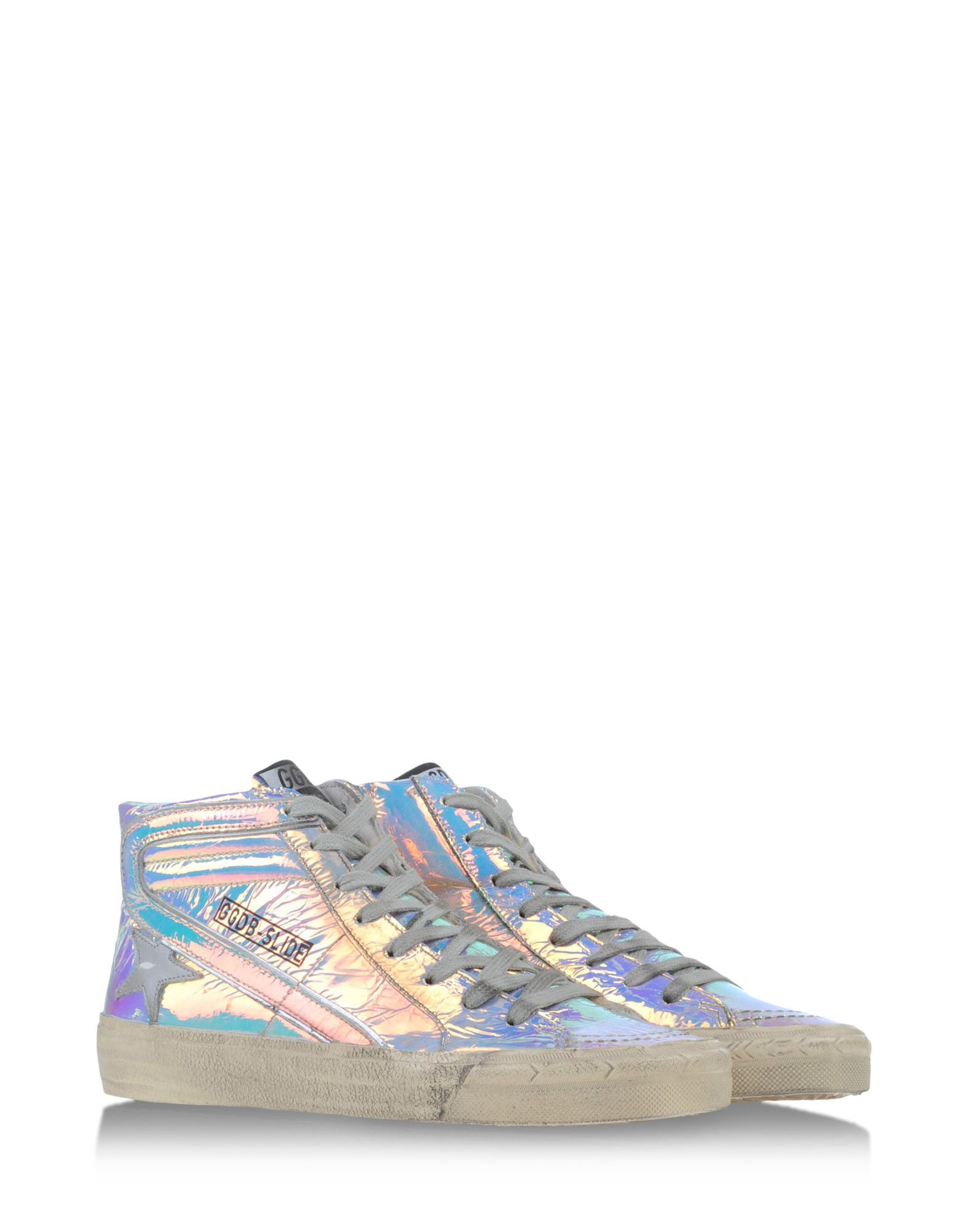 golden goose deluxe brand high tops trainers in multicolor turquoise lyst. Black Bedroom Furniture Sets. Home Design Ideas