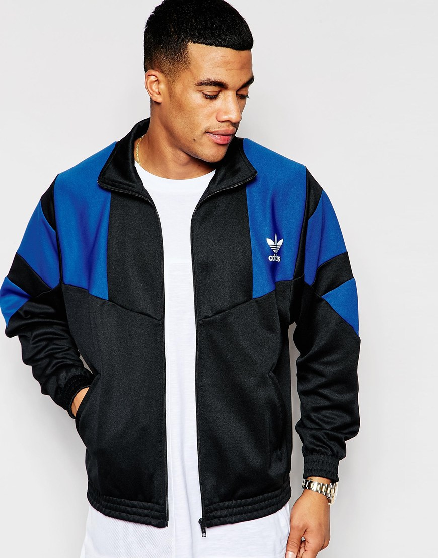 adidas originals retro track jacket aj7889 in blue for men lyst. Black Bedroom Furniture Sets. Home Design Ideas