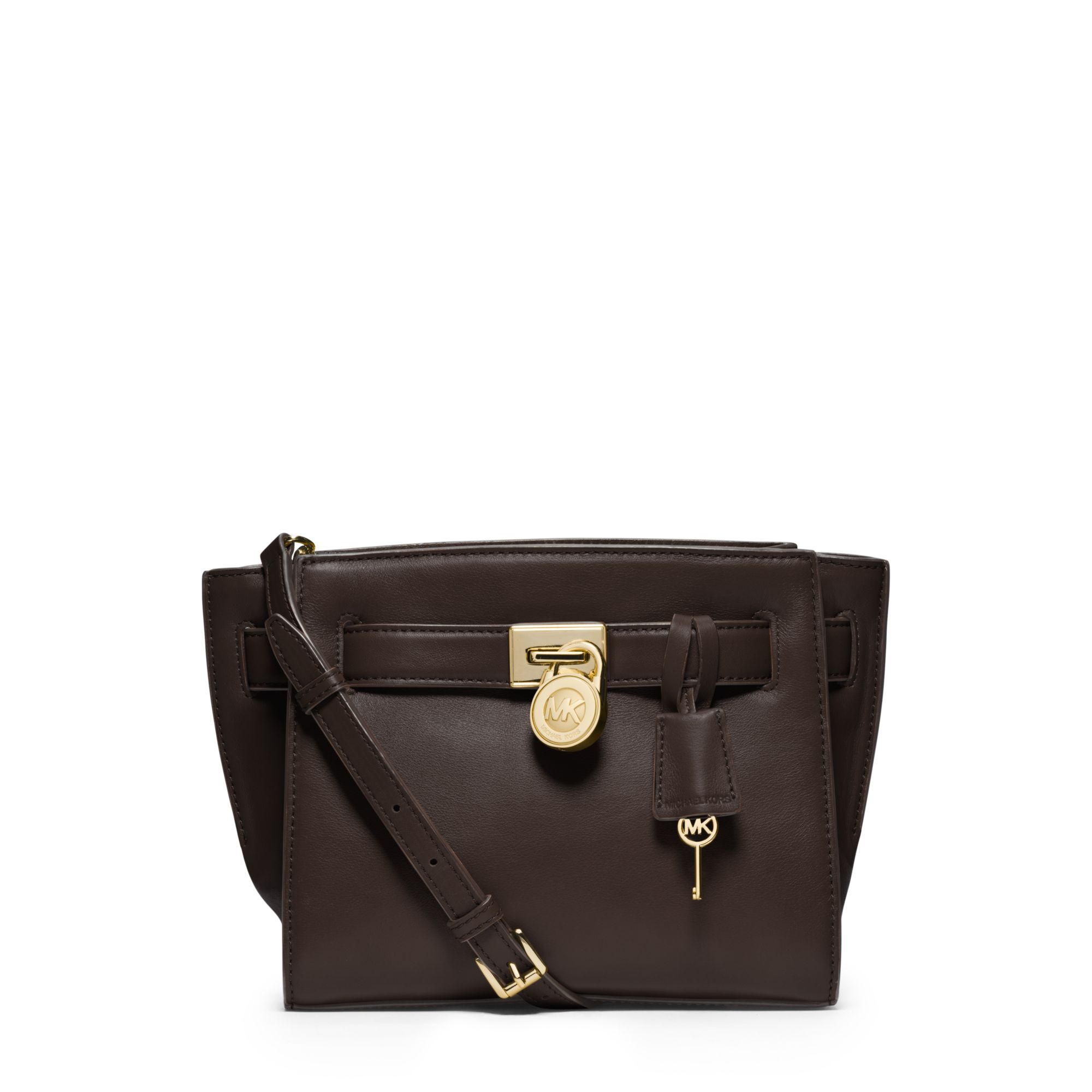 Michael Kors Hamilton Laukku : Michael kors hamilton traveler leather messenger in brown