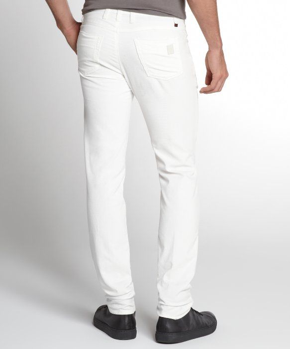Gucci White Cotton Corduroy Pants in White for Men | Lyst