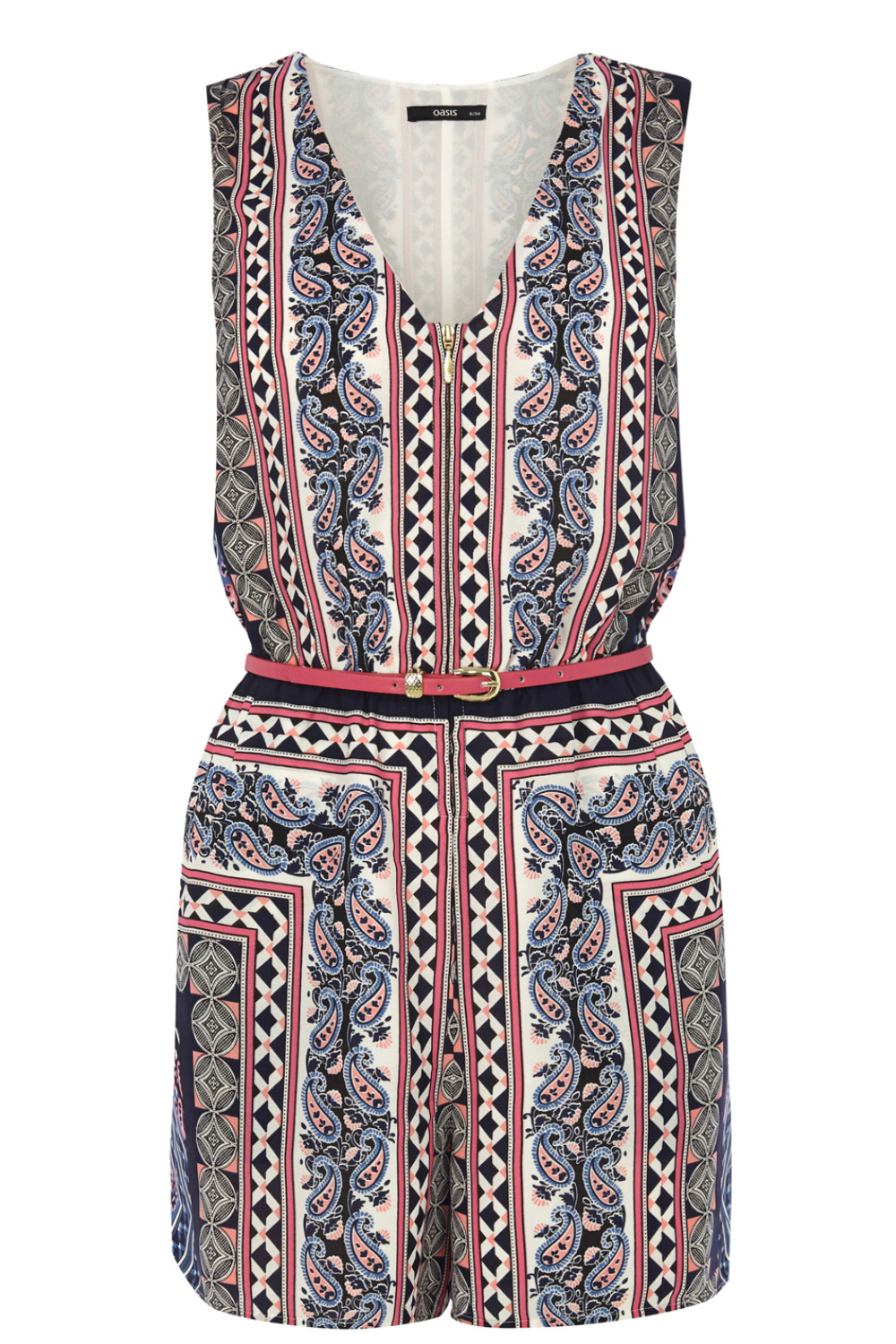 oasis tribal scarf playsuit lyst