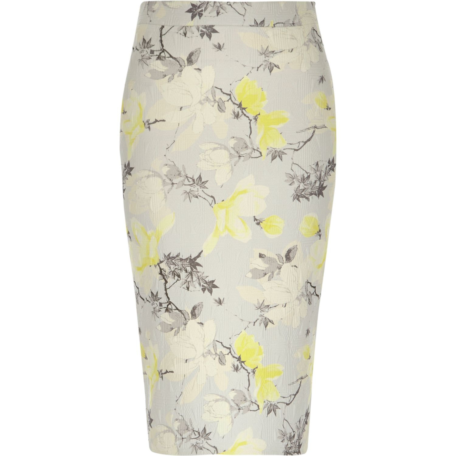 river island multicolor yellow floral print jersey