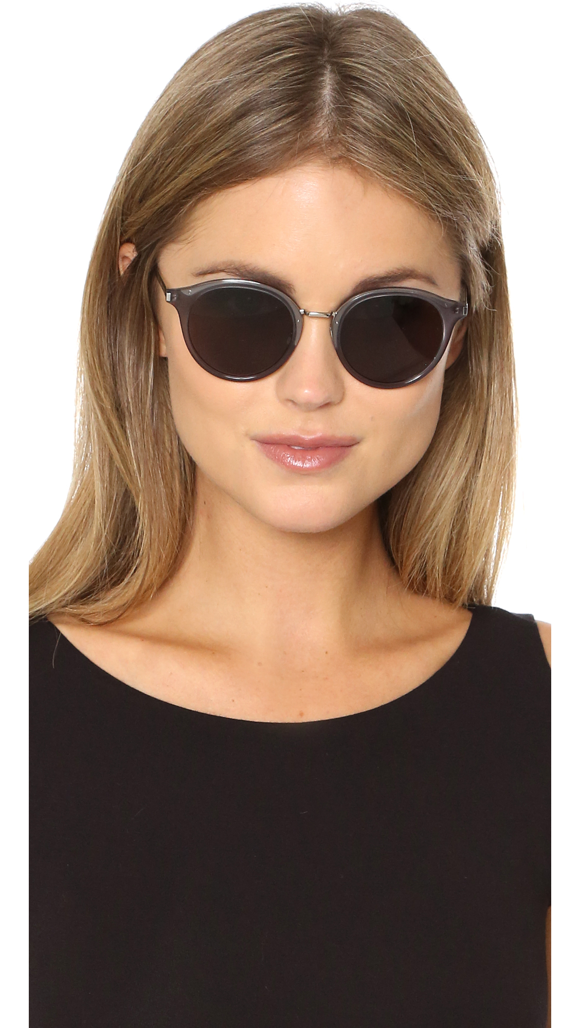 4963d295728 Lyst - Saint Laurent Sl 57 Sunglasses in Gray