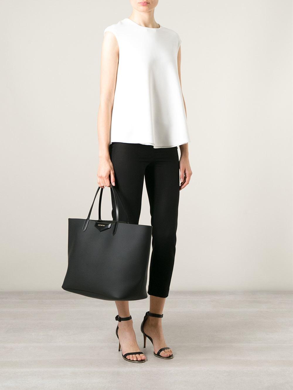 Lyst - Givenchy Large  Antigona  Shopper Tote in Black 9d5ca85451