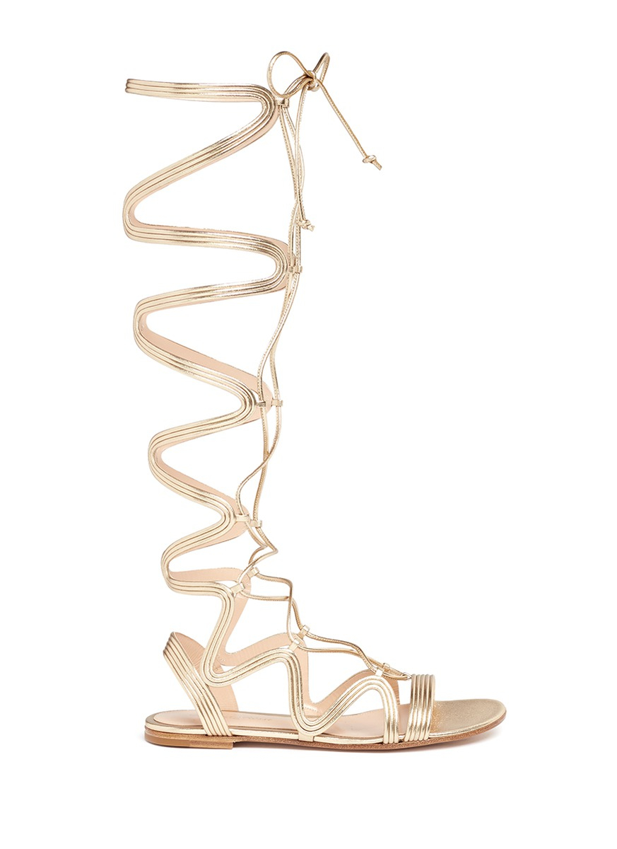 Medusa sandals - Metallic Gianvito Rossi