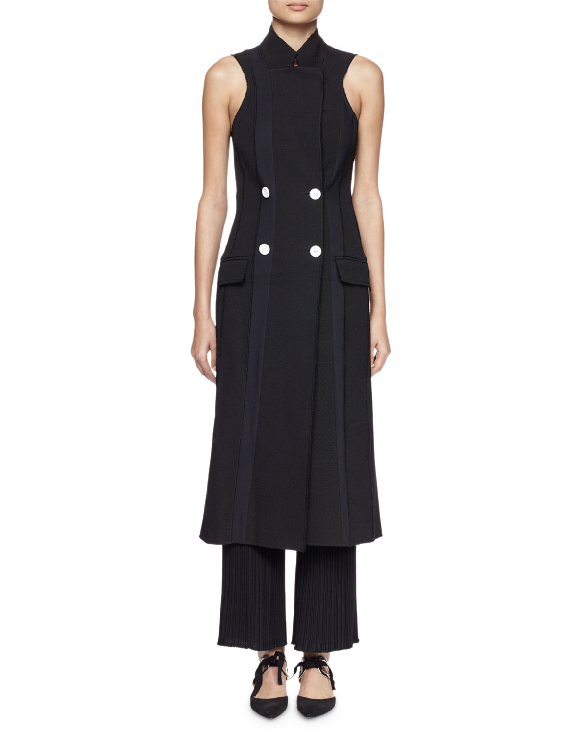 Lyst Proenza Schouler Sleeveless Double Breasted Suiting