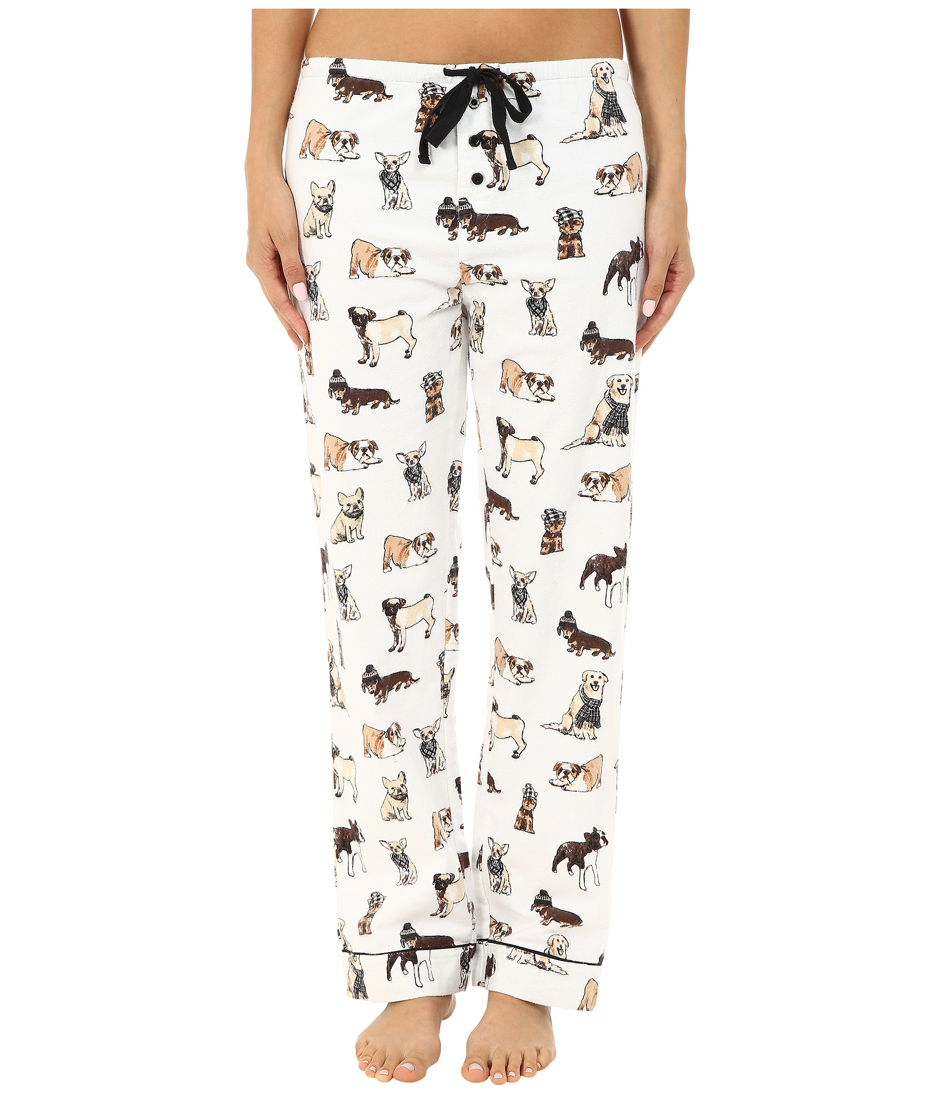 aae40aed5 Lyst - Pj Salvage Fall Into Flannel Dog Print Pajama Set in White