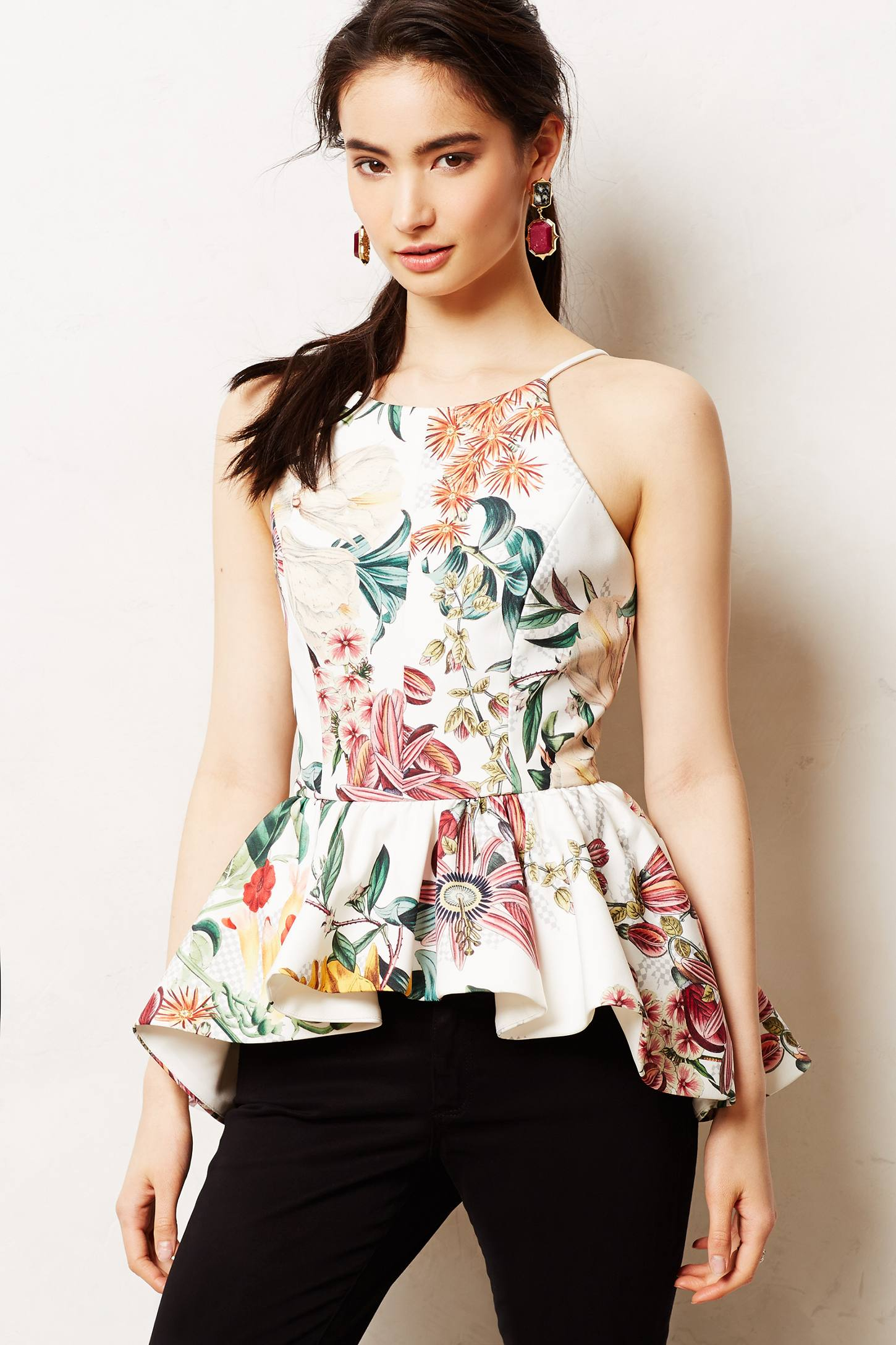 Lyst Anthropologie Dahlia Peplum Top
