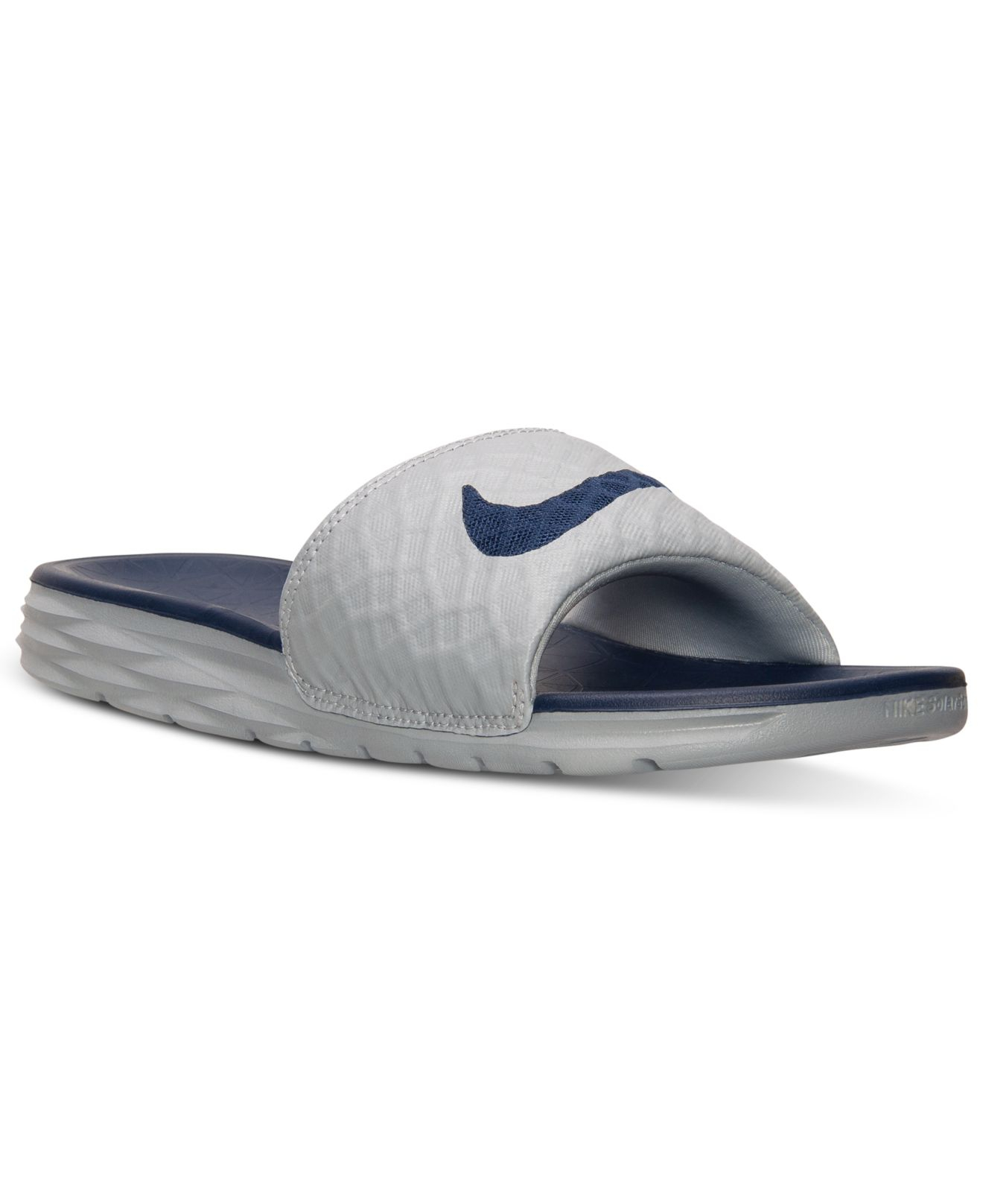 d5ffbcfe0696 Nike Men s Benassi Solarsoft Slide 2 Sandals From Finish Line in ...