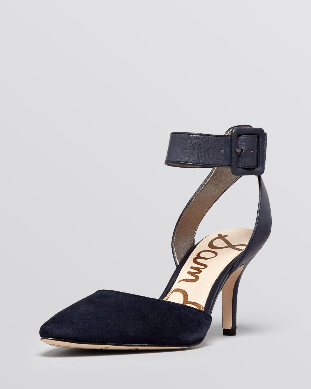 Sam edelman Pointed Toe Dorsay Pumps Okala High Heel in Blue | Lyst