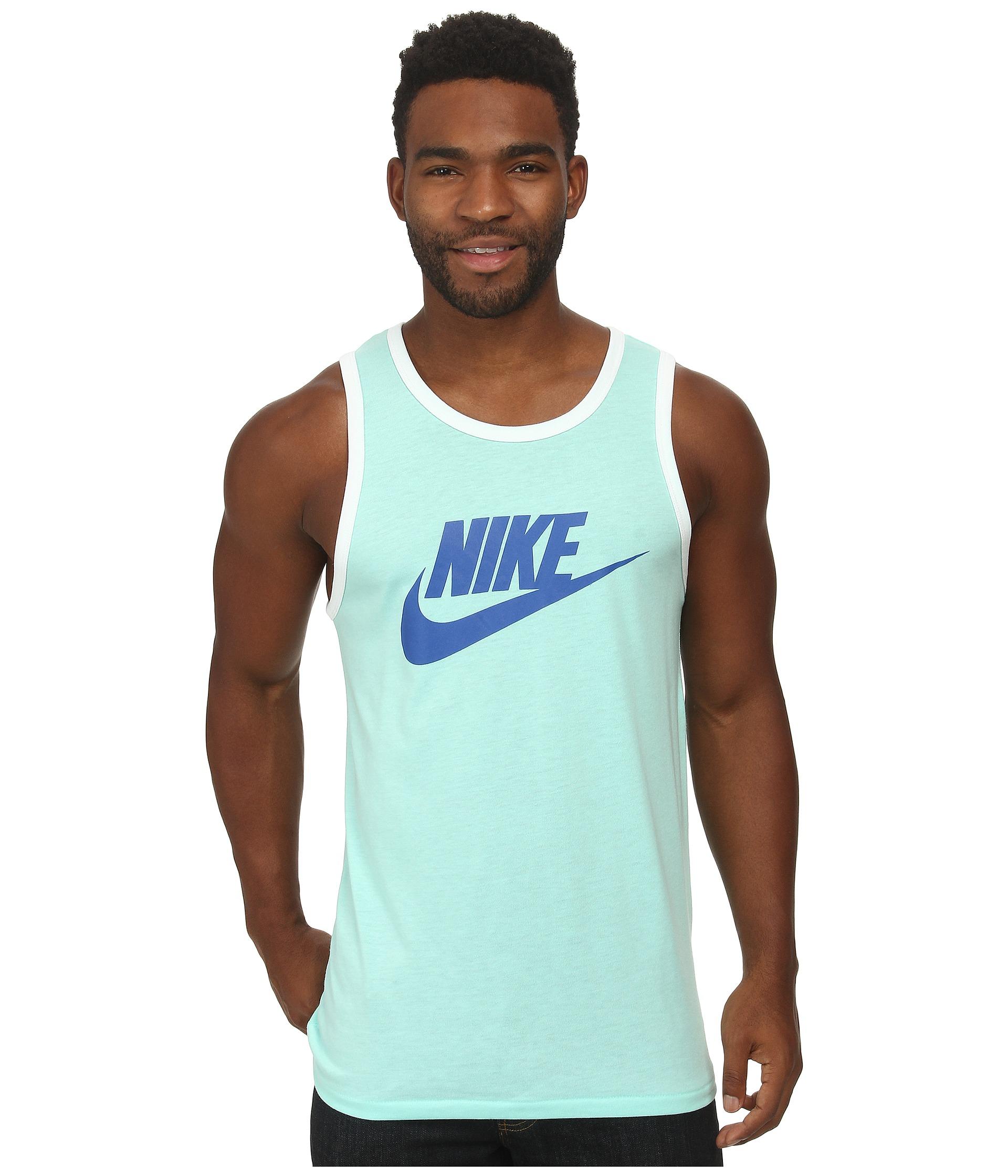 f272ca6a30b3e Lyst - Nike Ace Tank - Logo in Blue for Men