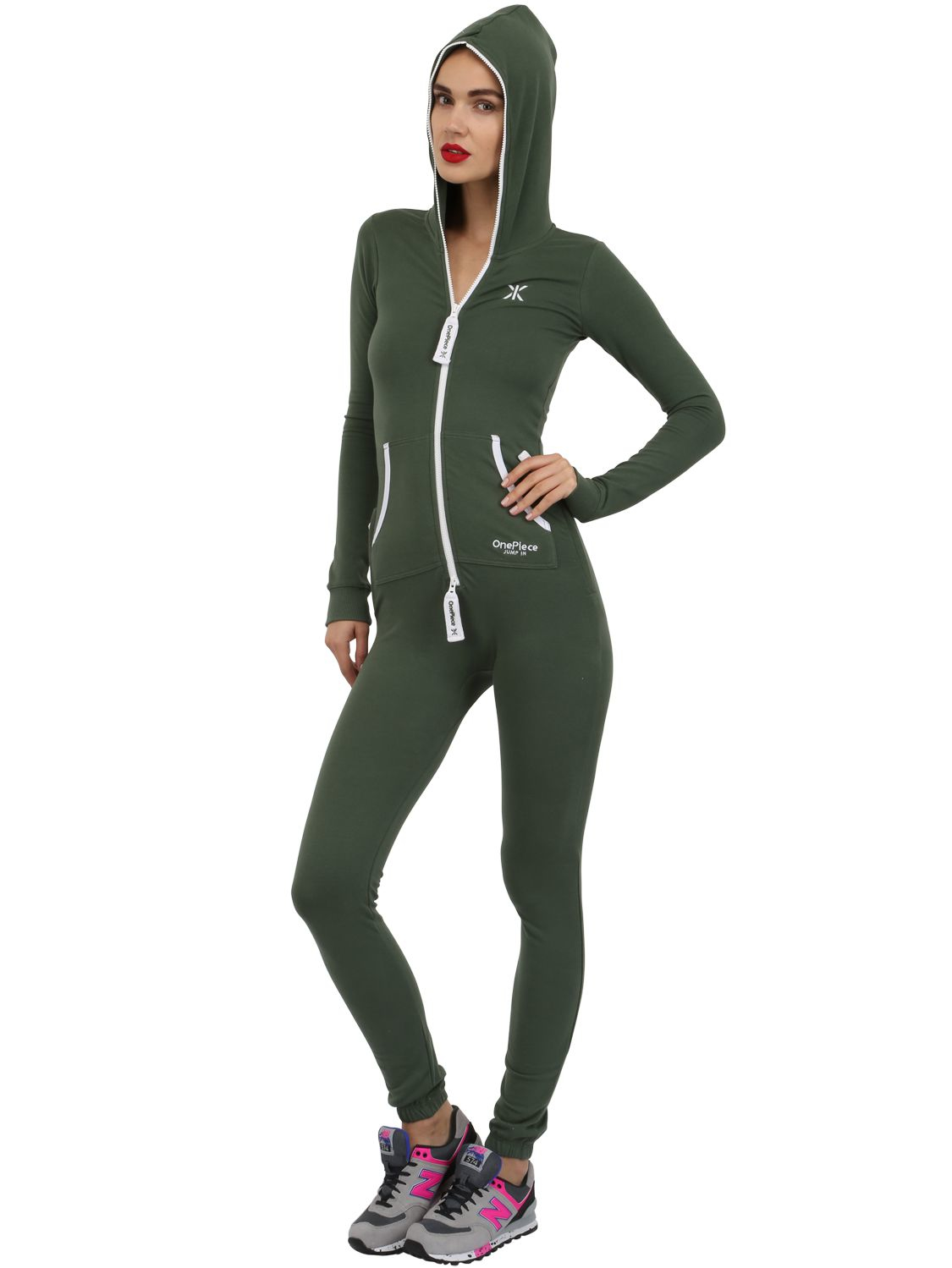 onepiece slim fit stretch cotton jumpsuit in green jungle. Black Bedroom Furniture Sets. Home Design Ideas