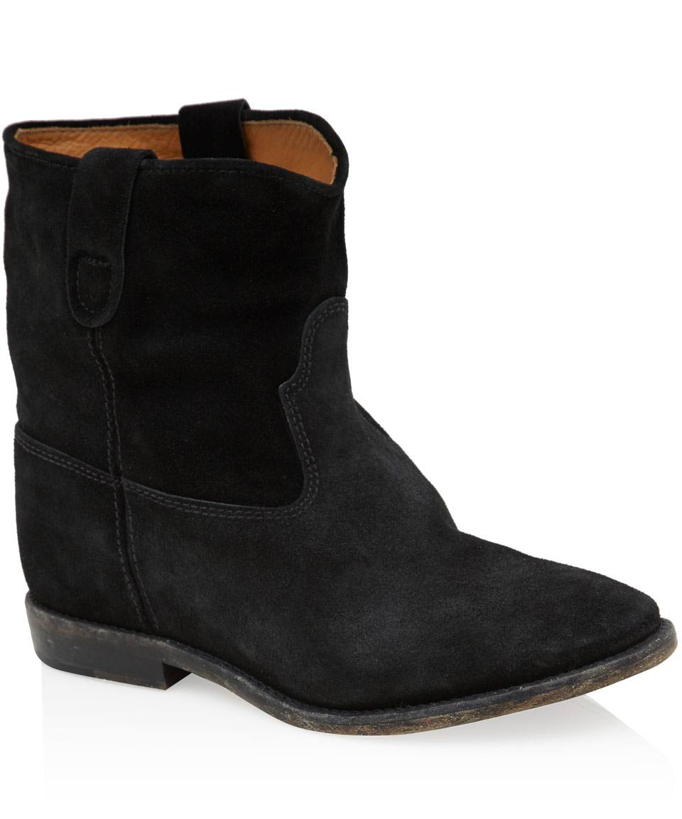 isabel marant toile crisi suede ankle boot in black save 29 lyst. Black Bedroom Furniture Sets. Home Design Ideas