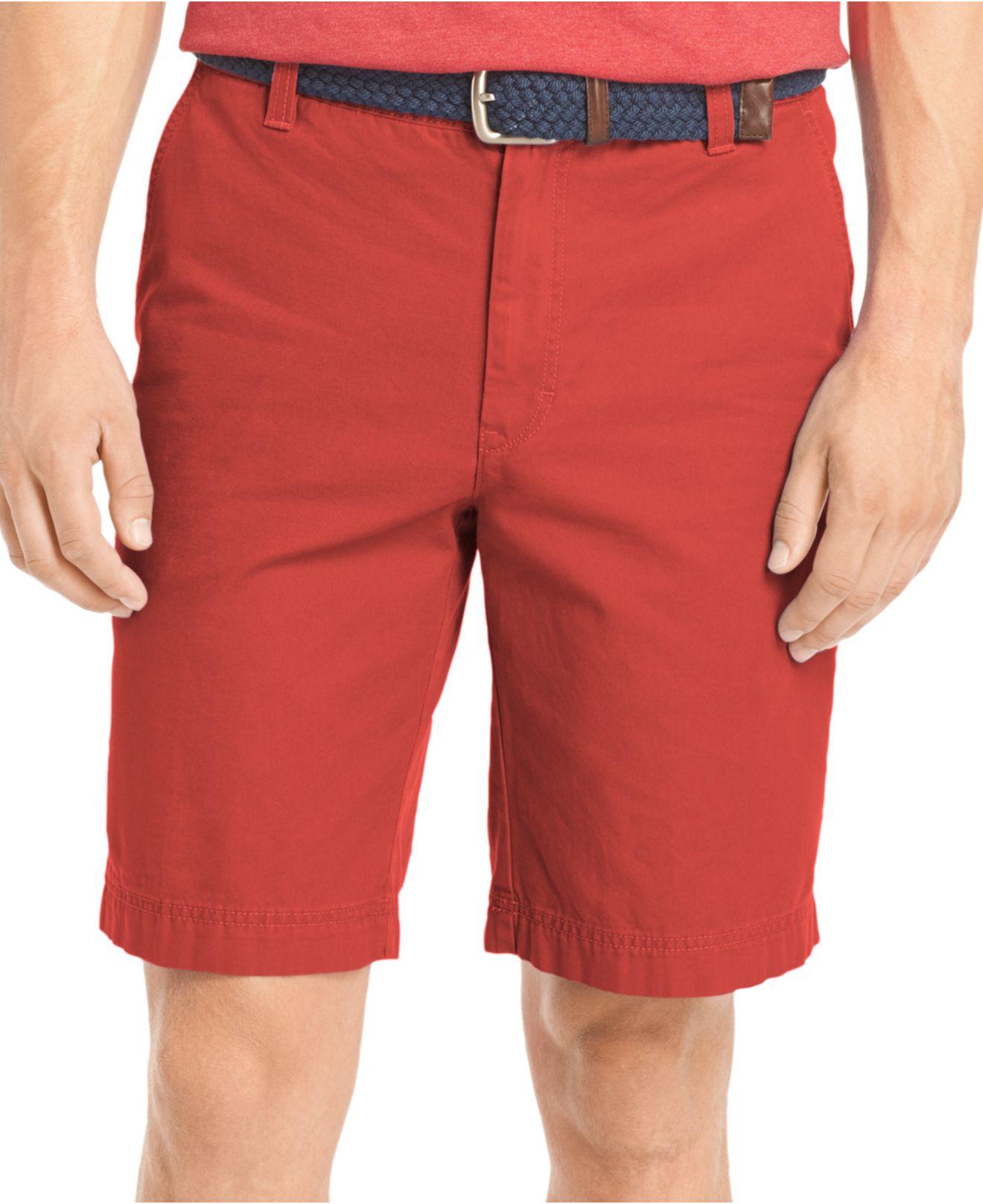 Izod Saltwater Khaki Shorts in Red for Men | Lyst
