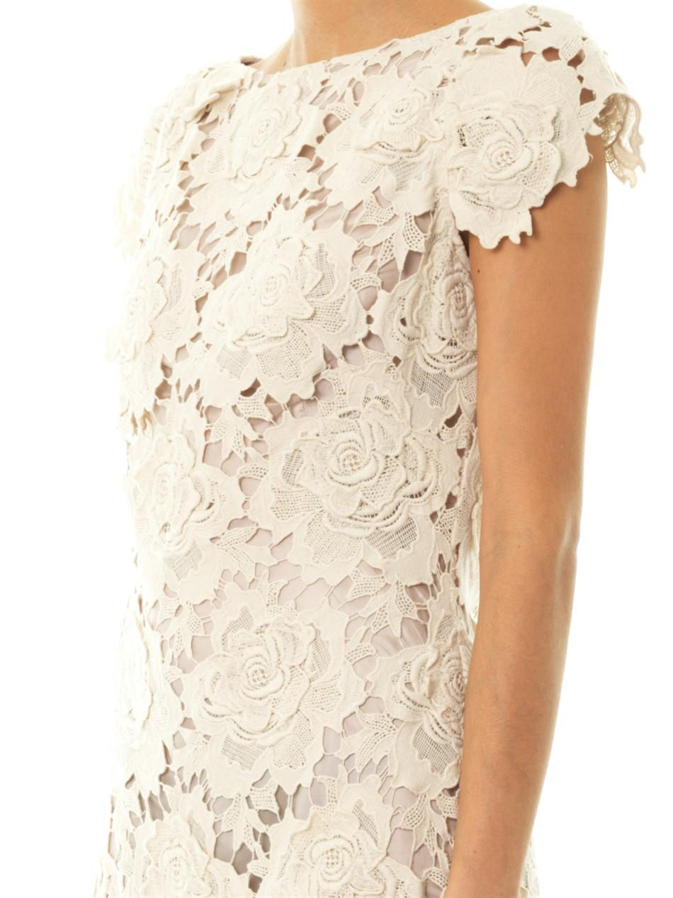 Lyst Lover 3d Star Lace Dress In White