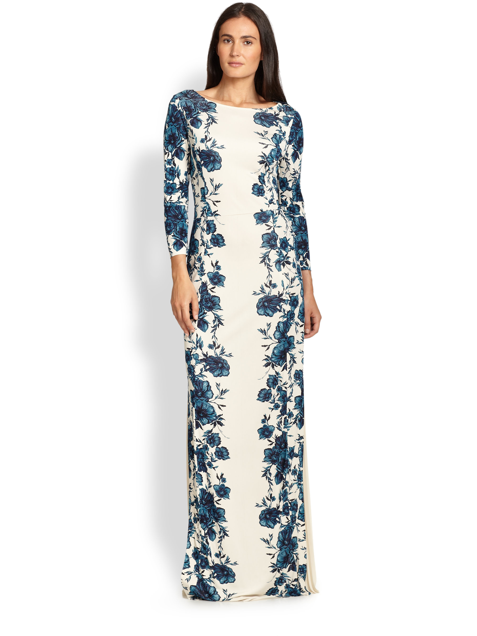 Tory burch Stacy Maxi Dress in Blue | Lyst