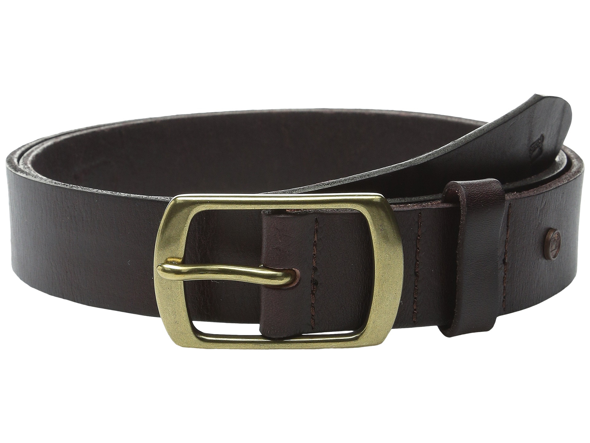 scotch soda classic clean leather belt in brown for