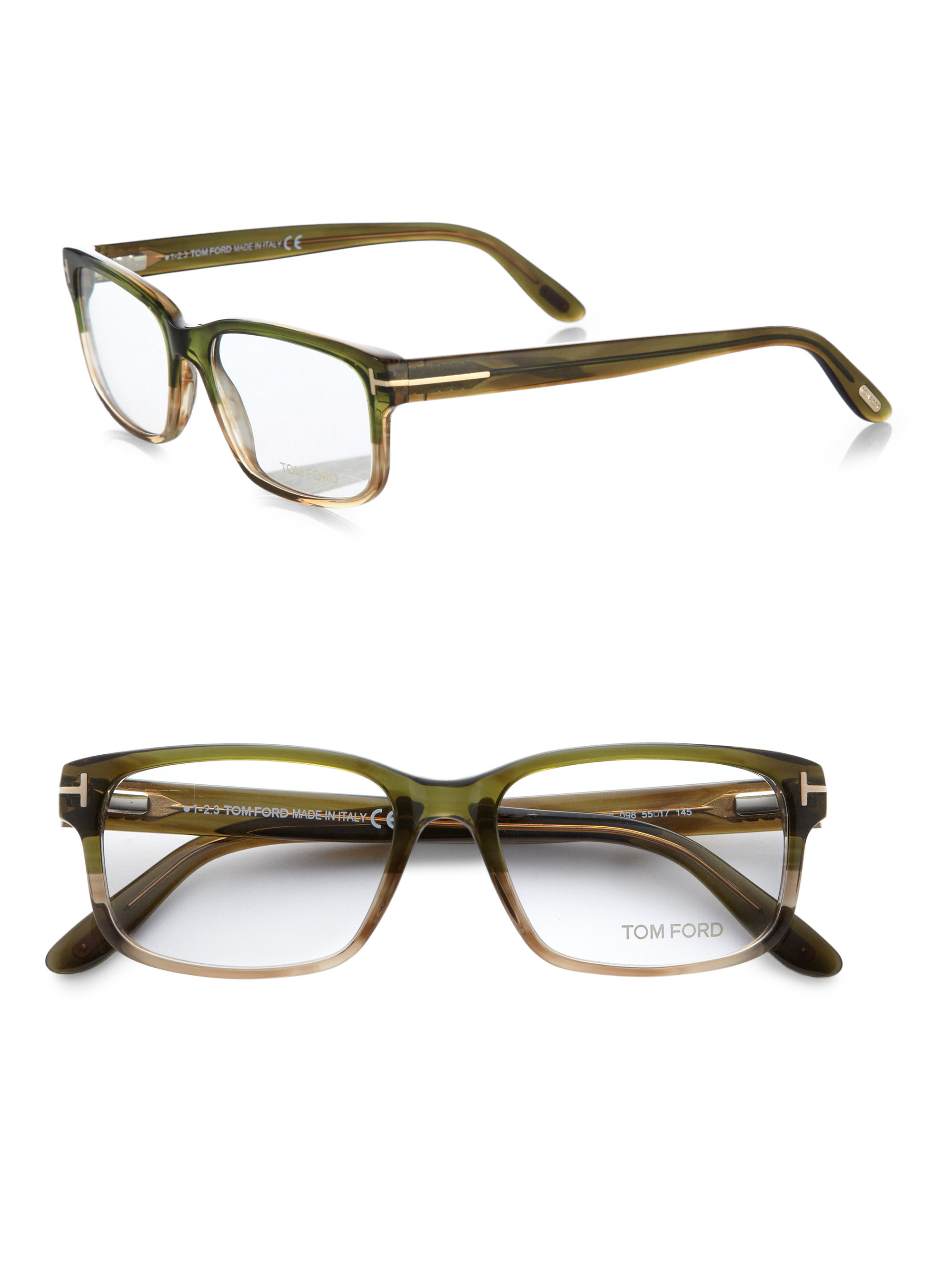 Tom ford 5313 Square Optical Frames in Green for Men Lyst