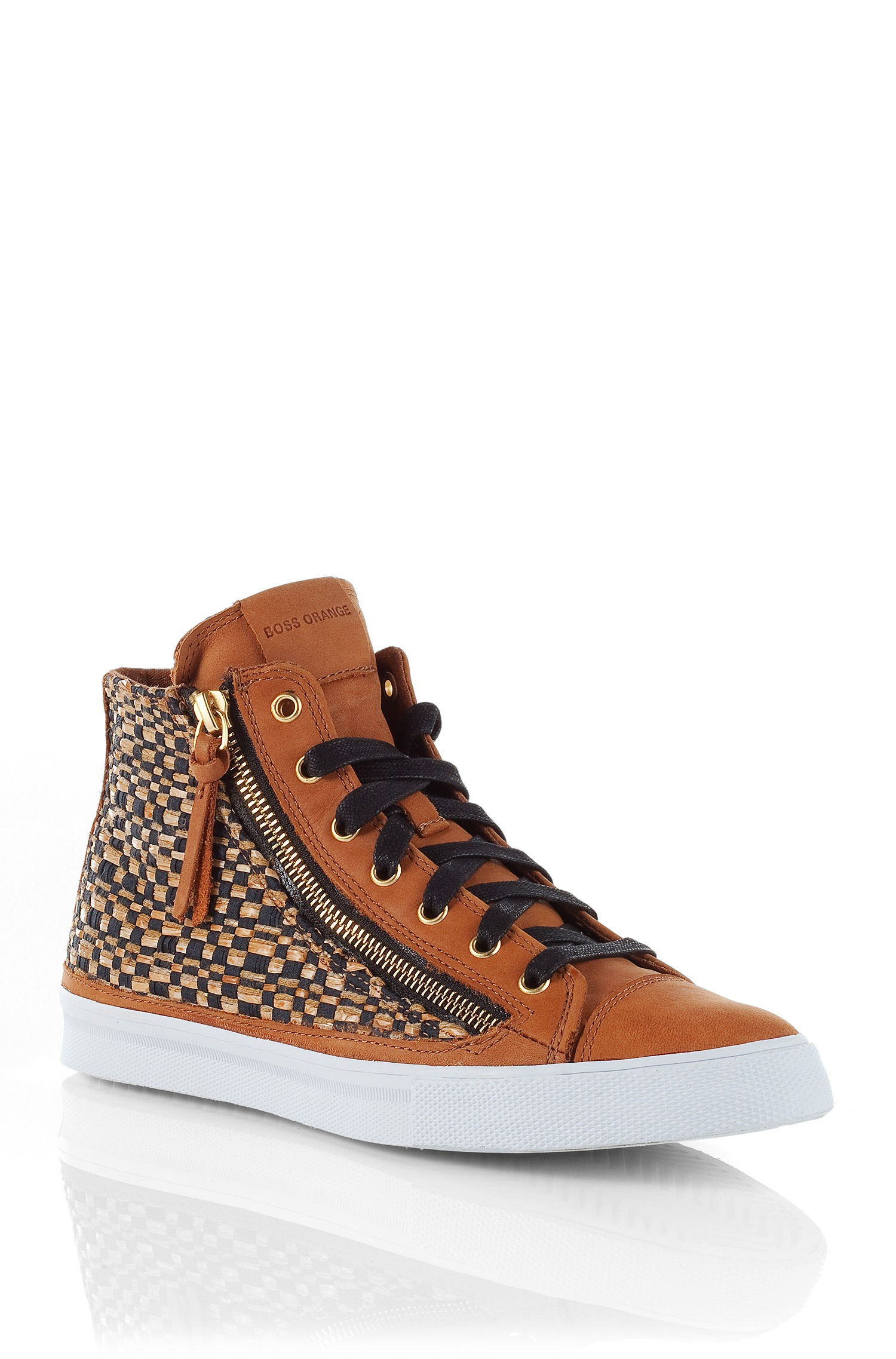 boss orange fabric blend sneakers nycols in brown lyst. Black Bedroom Furniture Sets. Home Design Ideas