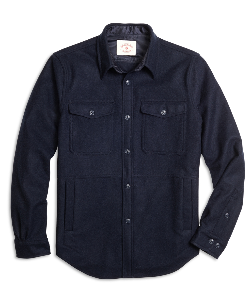 Brooks brothers Wool Shirt Jacket in Blue for Men | Lyst