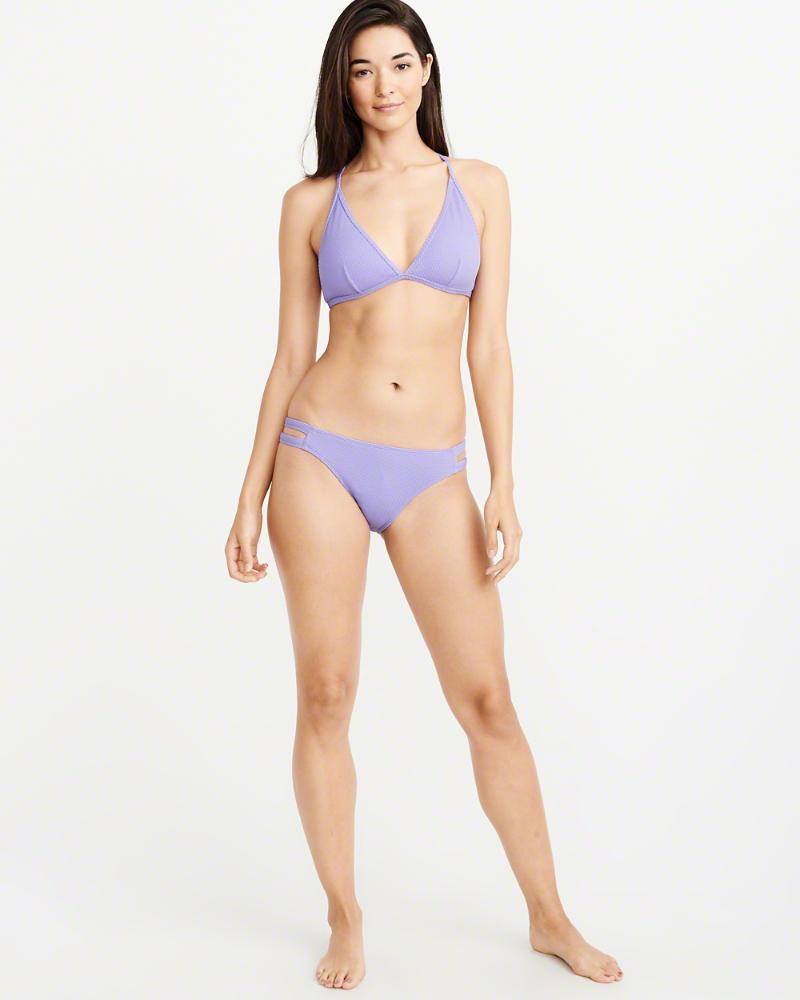 ce02be6d2285a Lyst - Abercrombie   Fitch A f Textured Racerback Triangle Bikini Top in  Purple