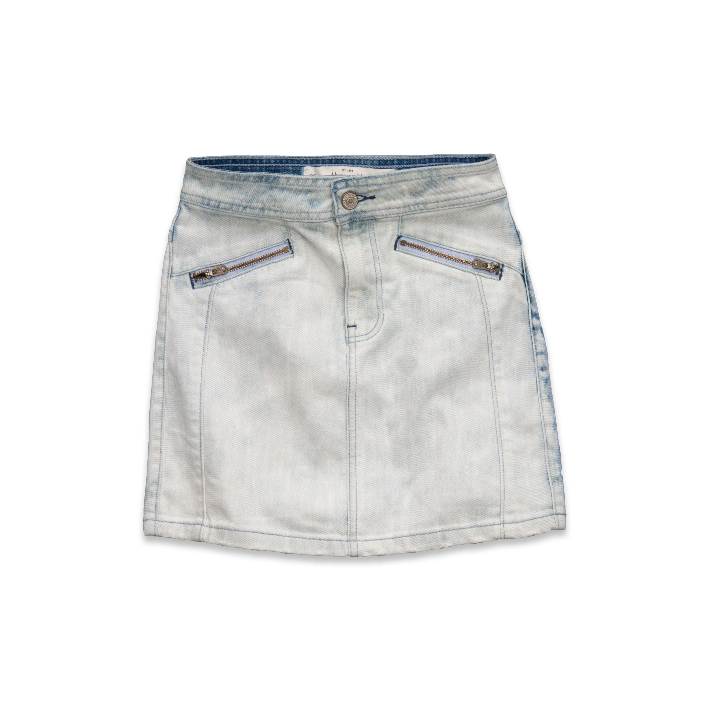abercrombie fitch a f waist denim skirt in gray