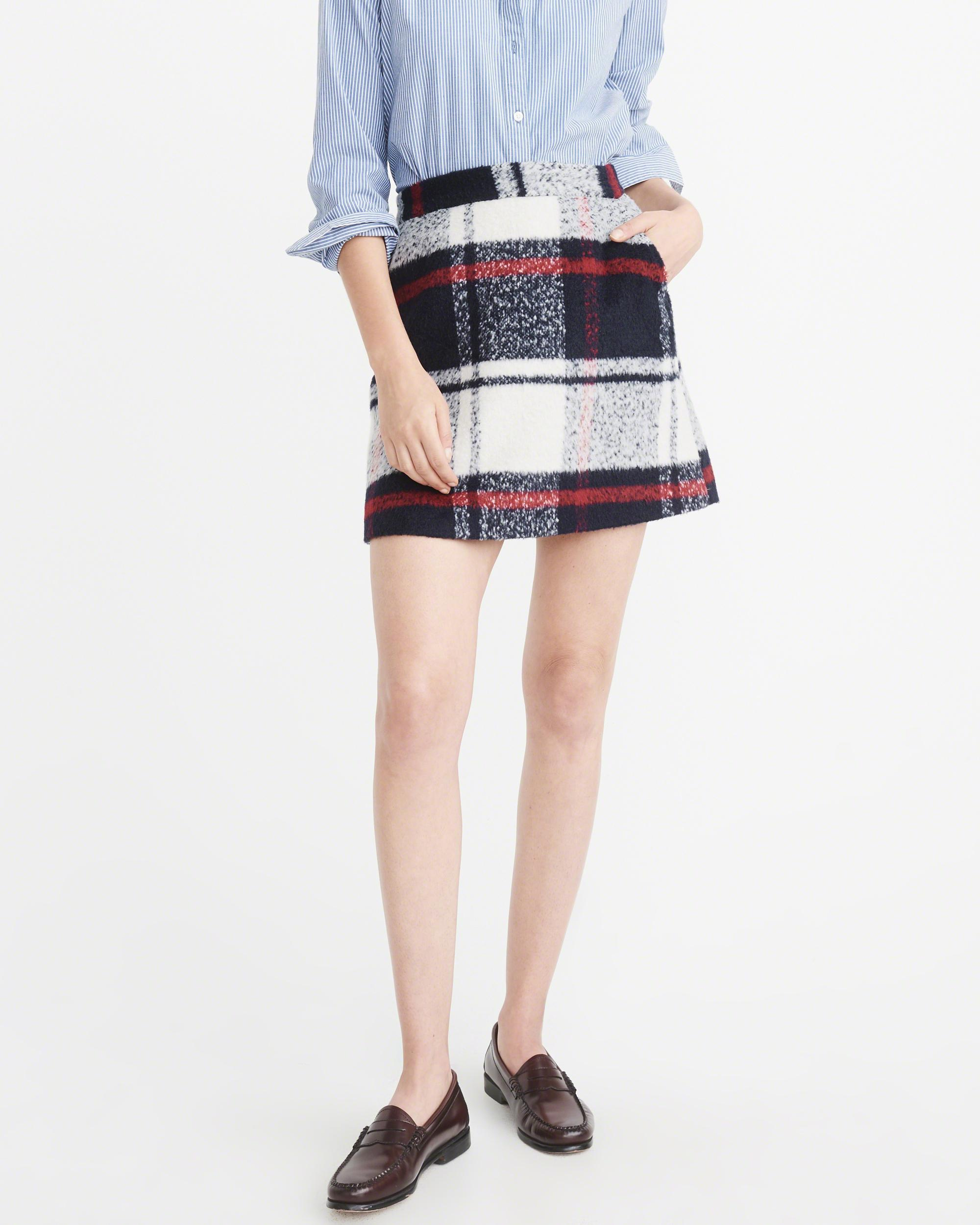 3a8a74acdf Wool Plaid Mini Skirt - Image Skirt and Slipper Imagepv.co