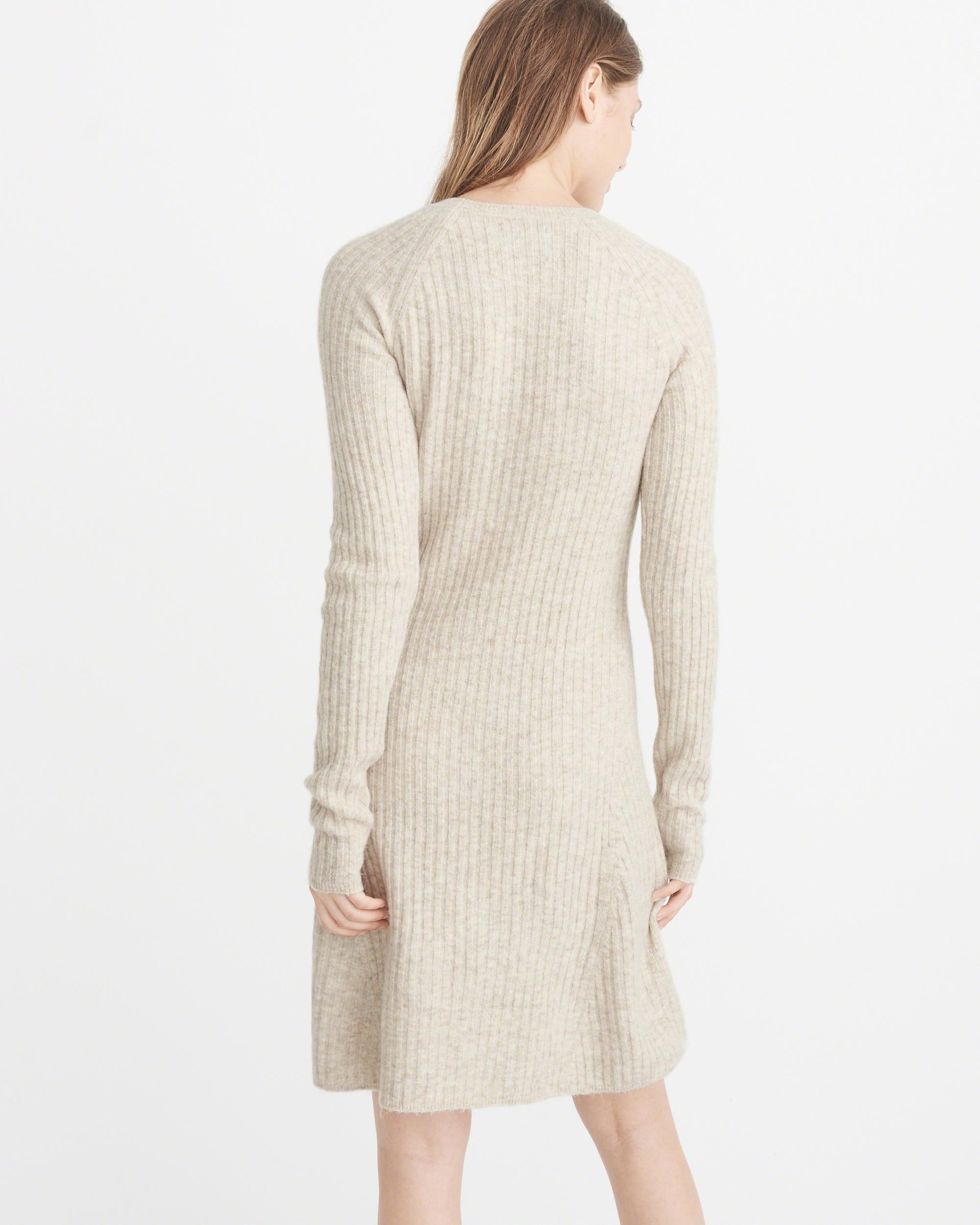 Cream color sweater dress