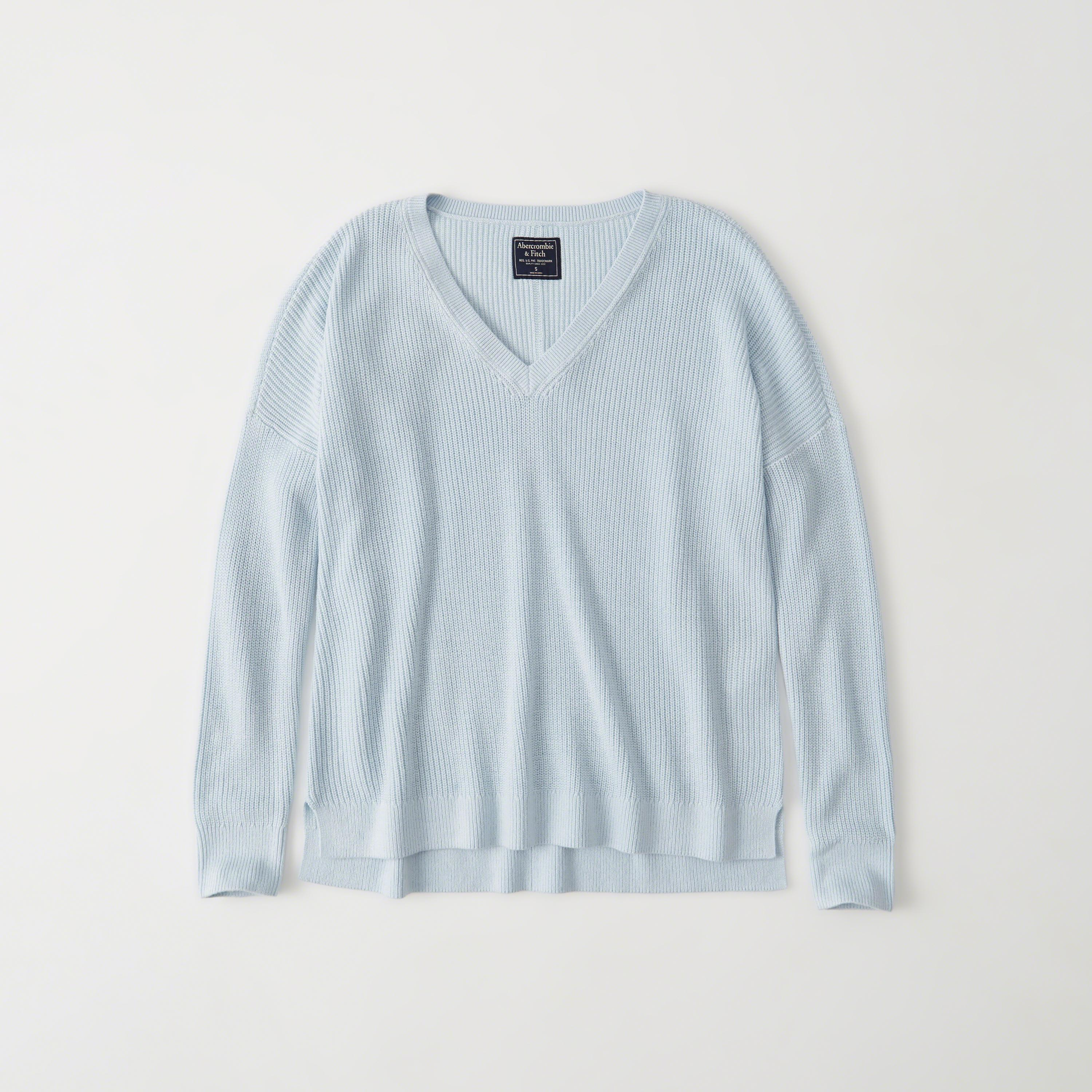 e8d8f2b76c Lyst - Abercrombie   Fitch V-neck Sweater in Blue