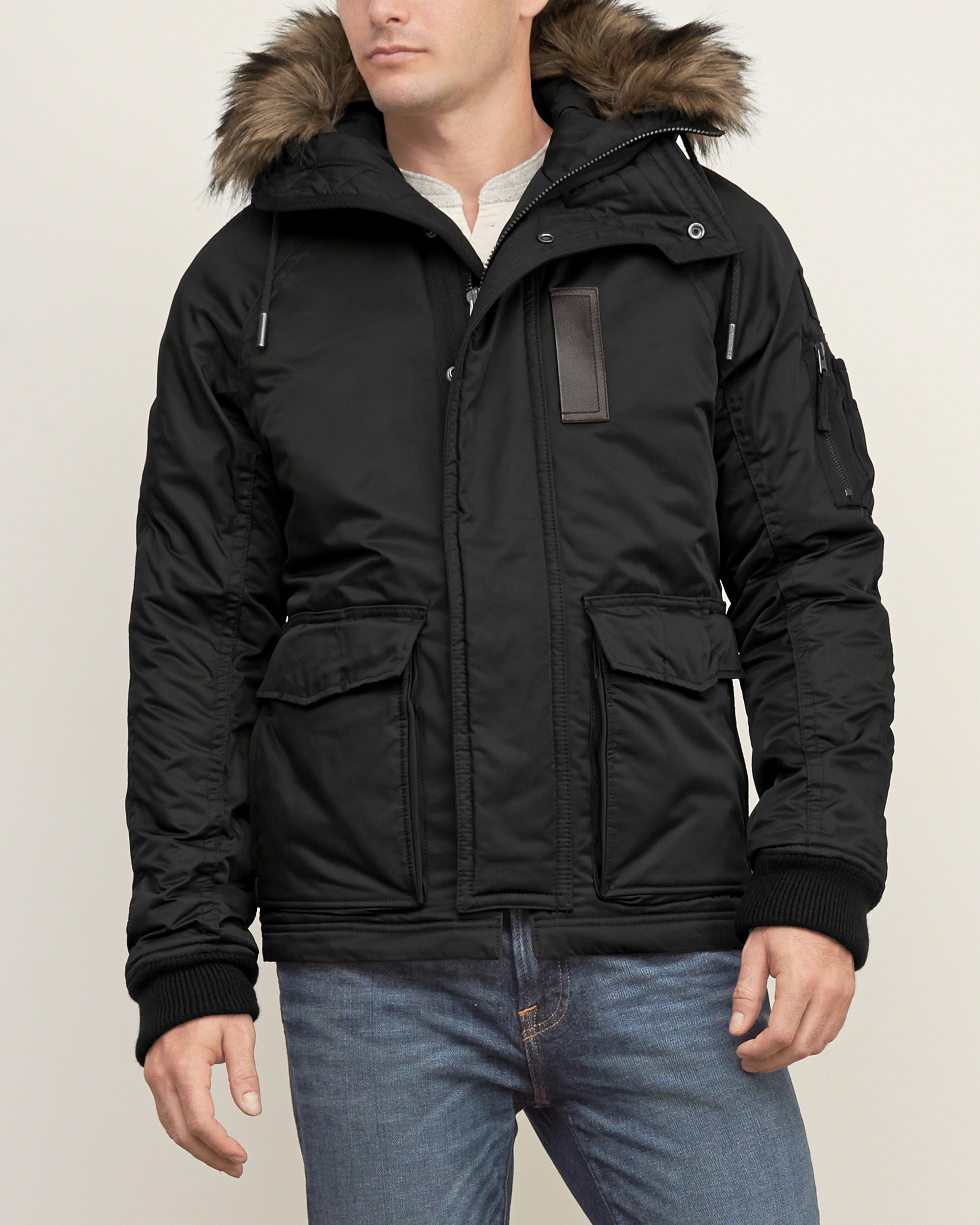 Abercrombie & fitch Premium Military Parka in Black for Men | Lyst