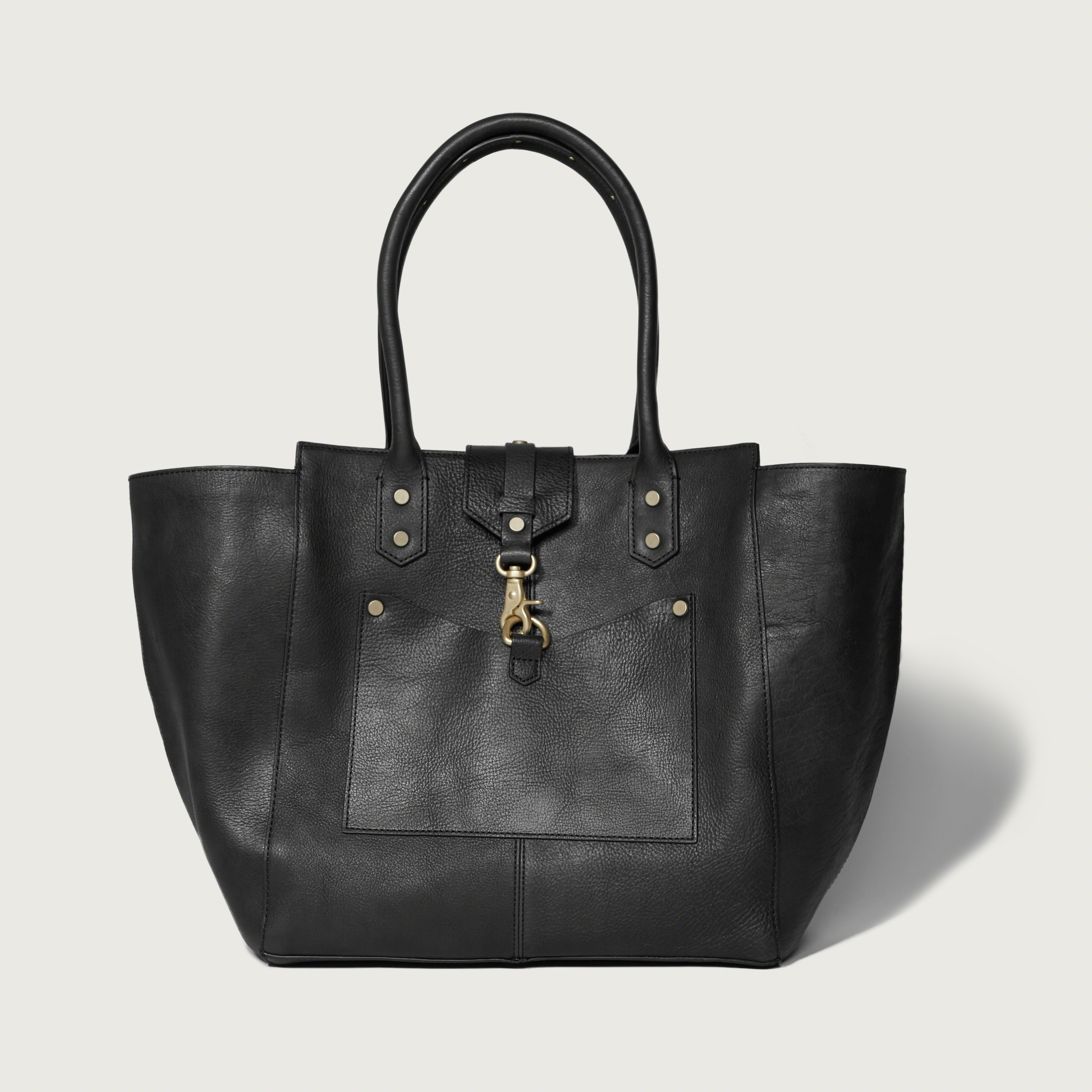 abercrombie fitch the city carryall genuine leather bag