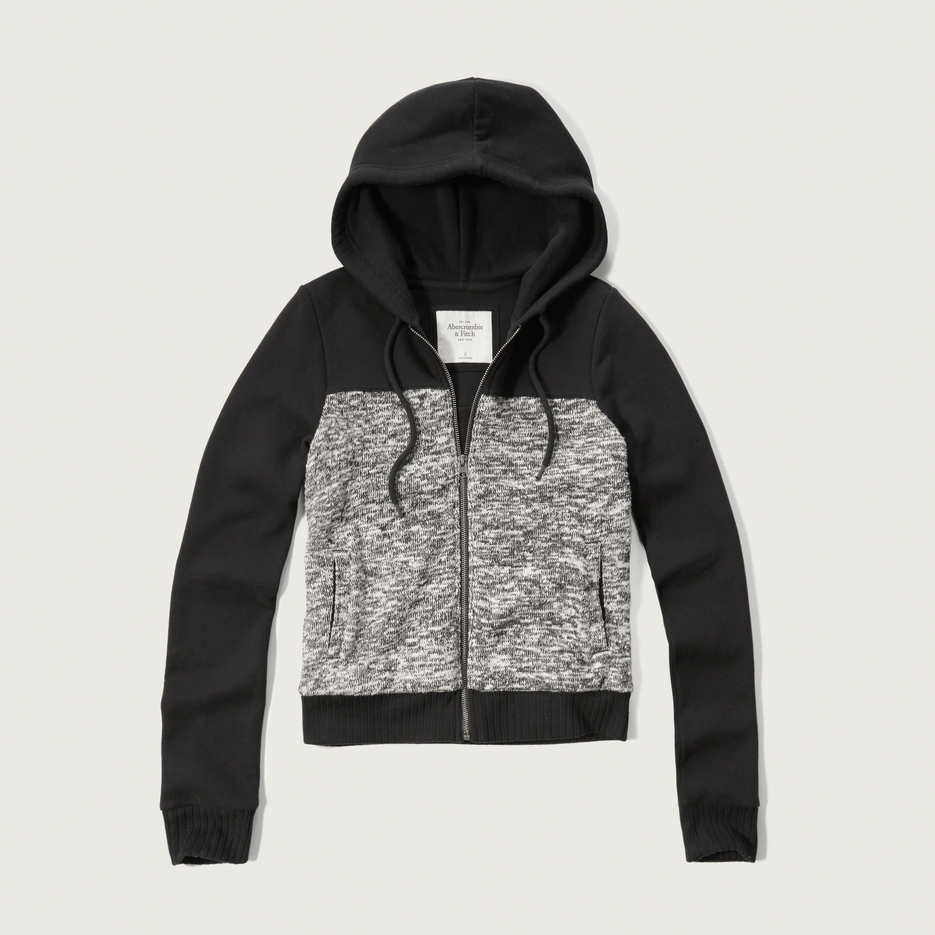 Abercrombie & Fitch Boucle Hoodie In Black