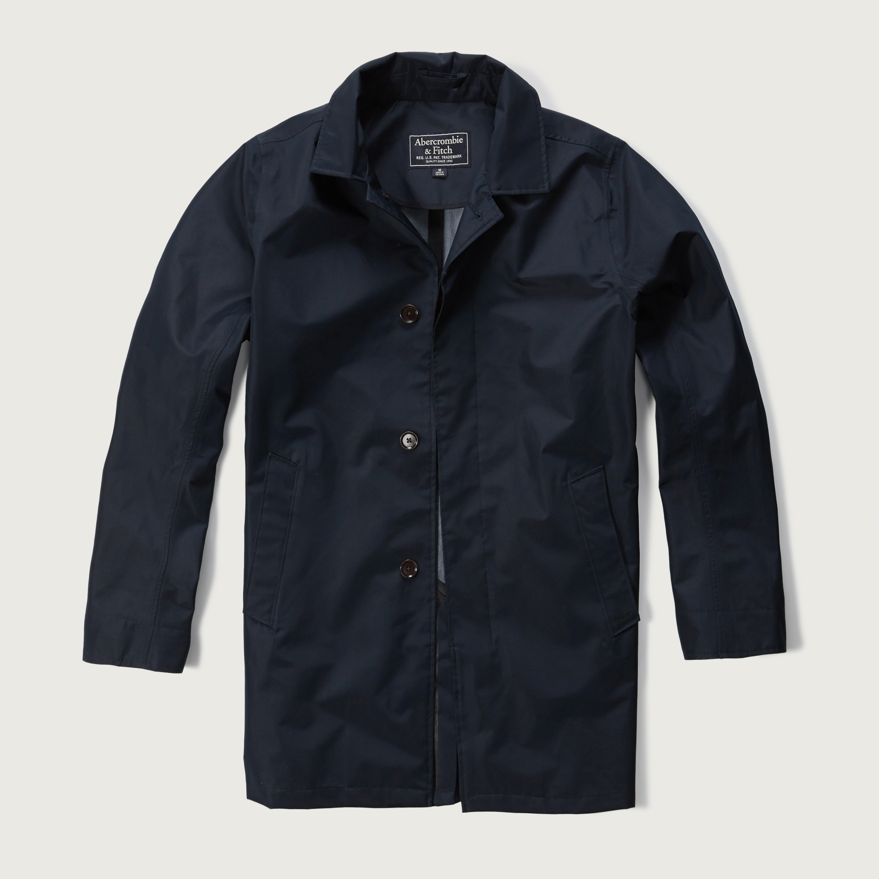 Abercrombie & Fitch Classic Rain Jacket In Blue For Men