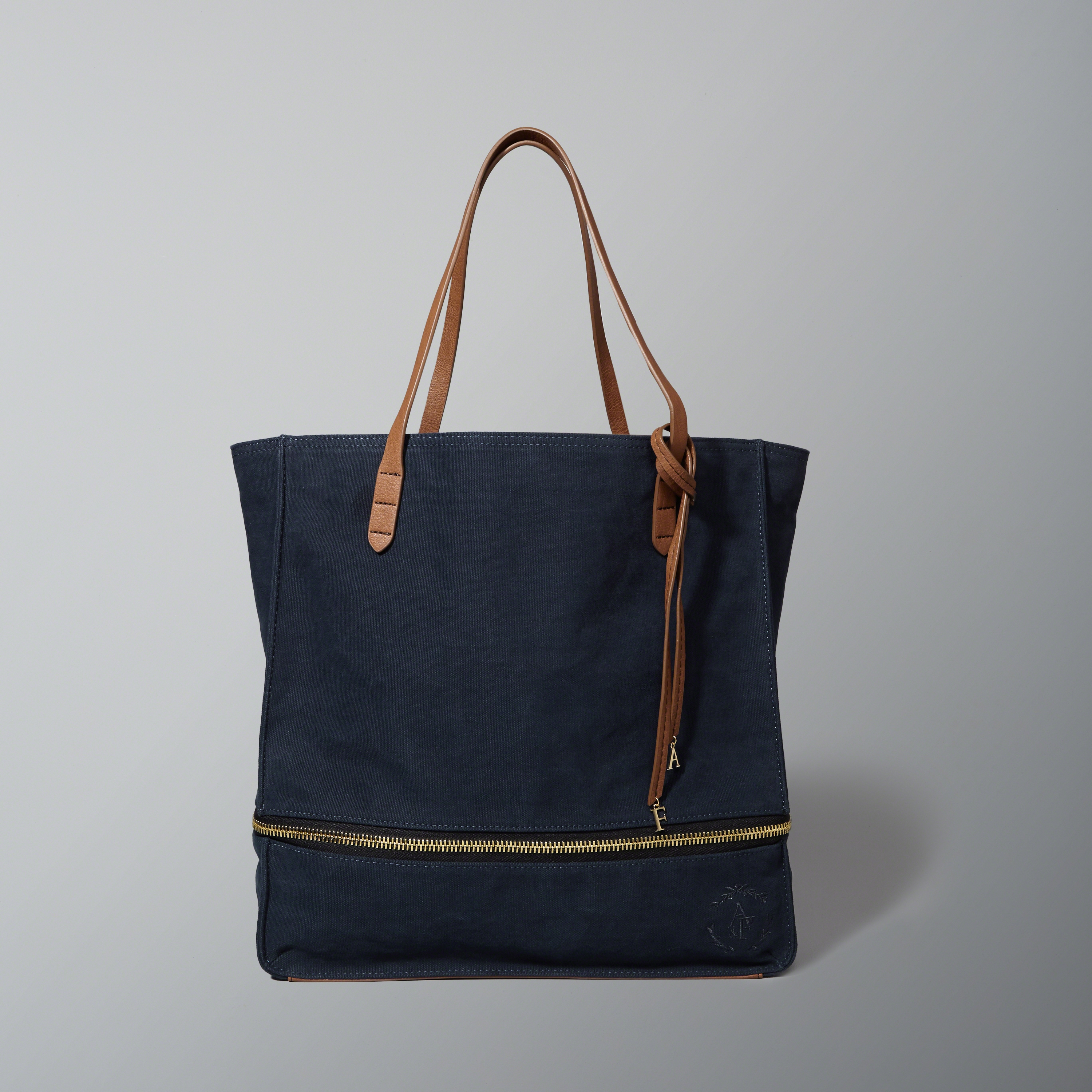 abercrombie fitch canvas expandable tote in blue lyst