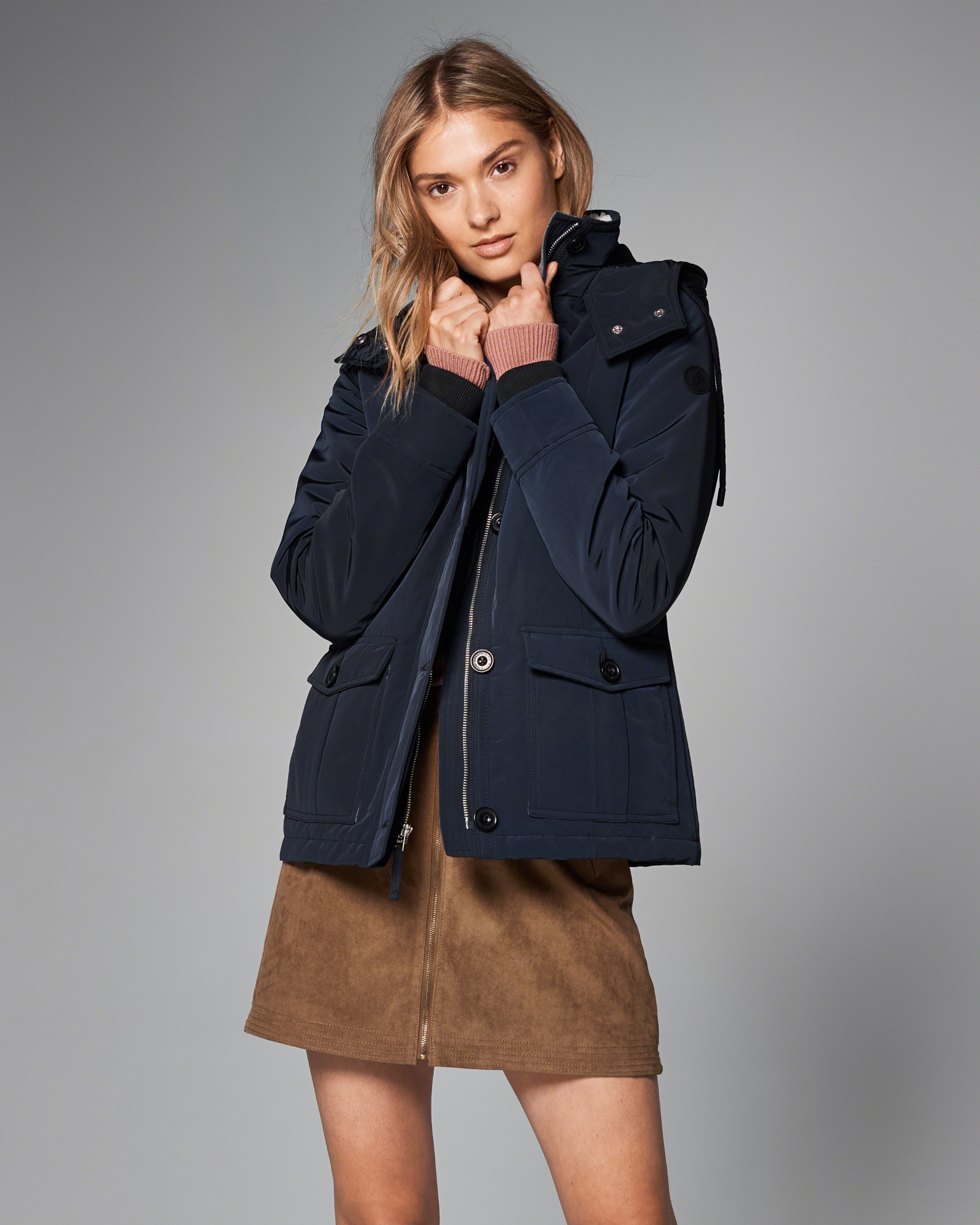 Abercrombie Fitch Accessories Abercrombie Fitch Womens: Abercrombie & Fitch Hard Shell Performance Jacket In Blue