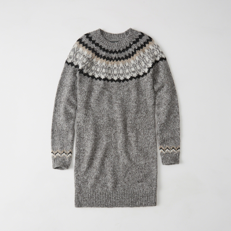 Abercrombie & fitch Fairisle Sweater Dress Exchange Color / Size ...