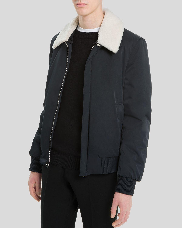 Sandro Flight Jacket in Blue for Men | Lyst