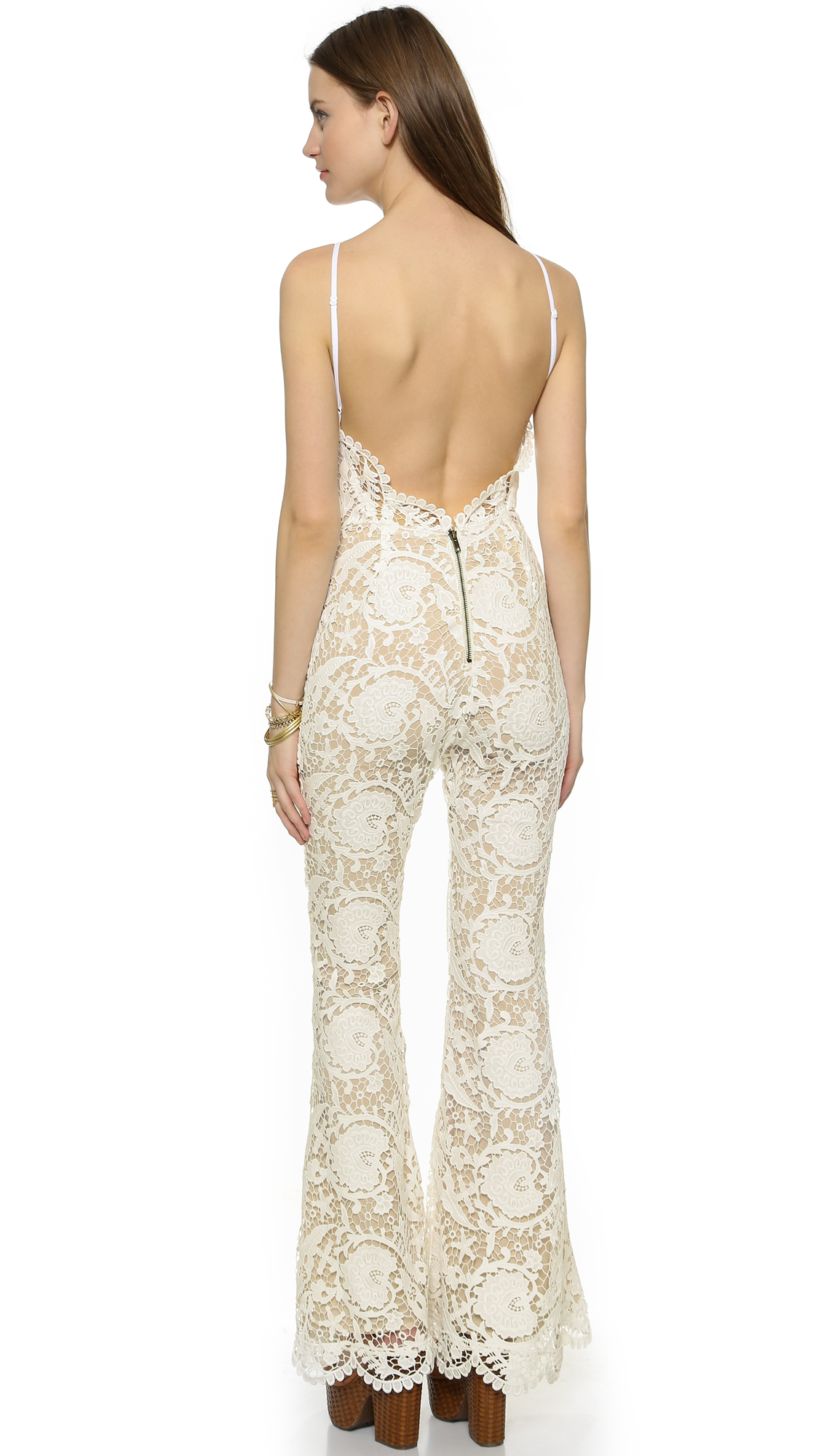 1a50b36360ed Lyst - Stone Cold Fox Dylan Jumpsuit - White tan