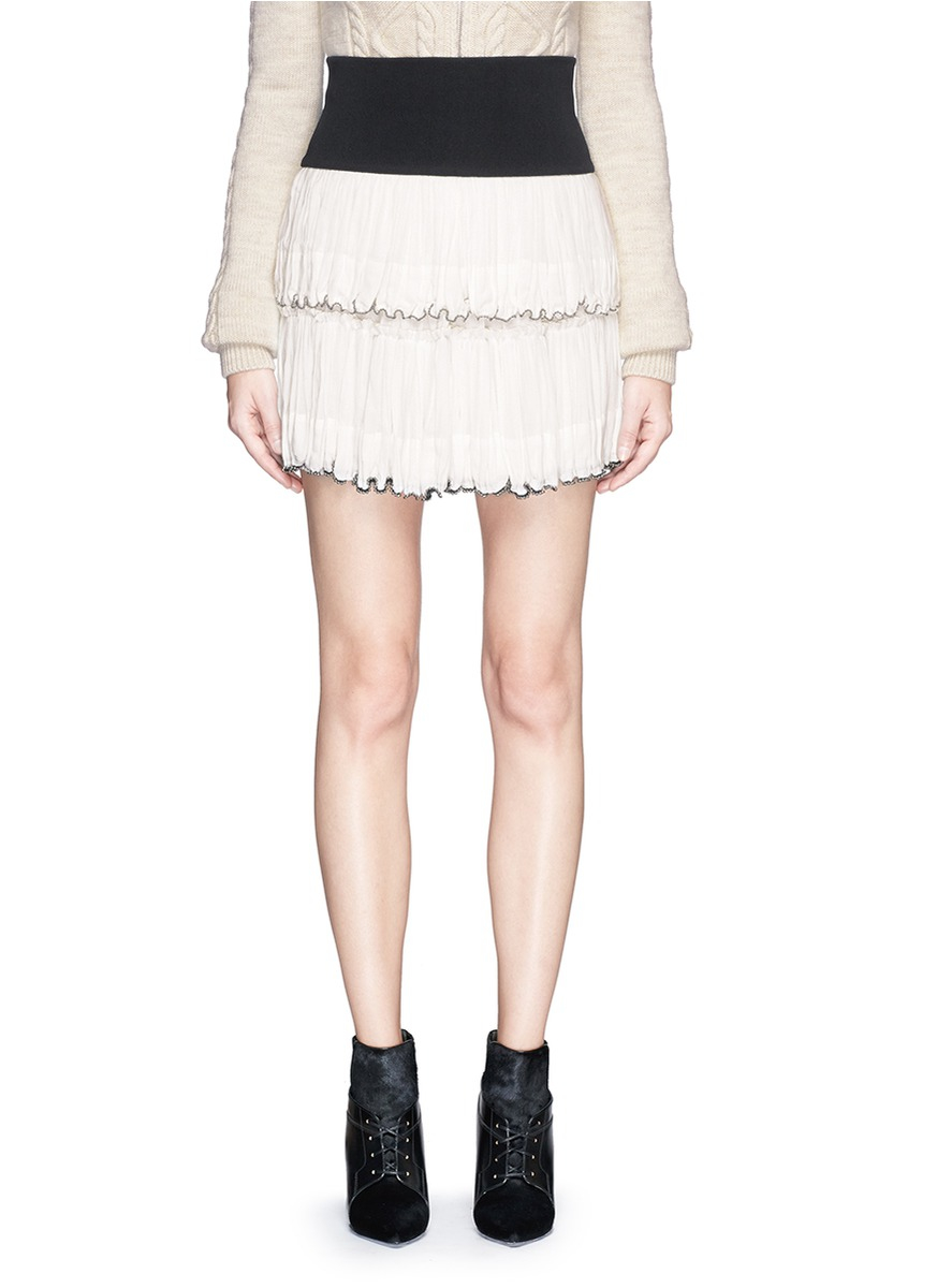 95cf6d797d Isabel Marant 'roscoe' Two-way Pleat Skirt in White - Lyst