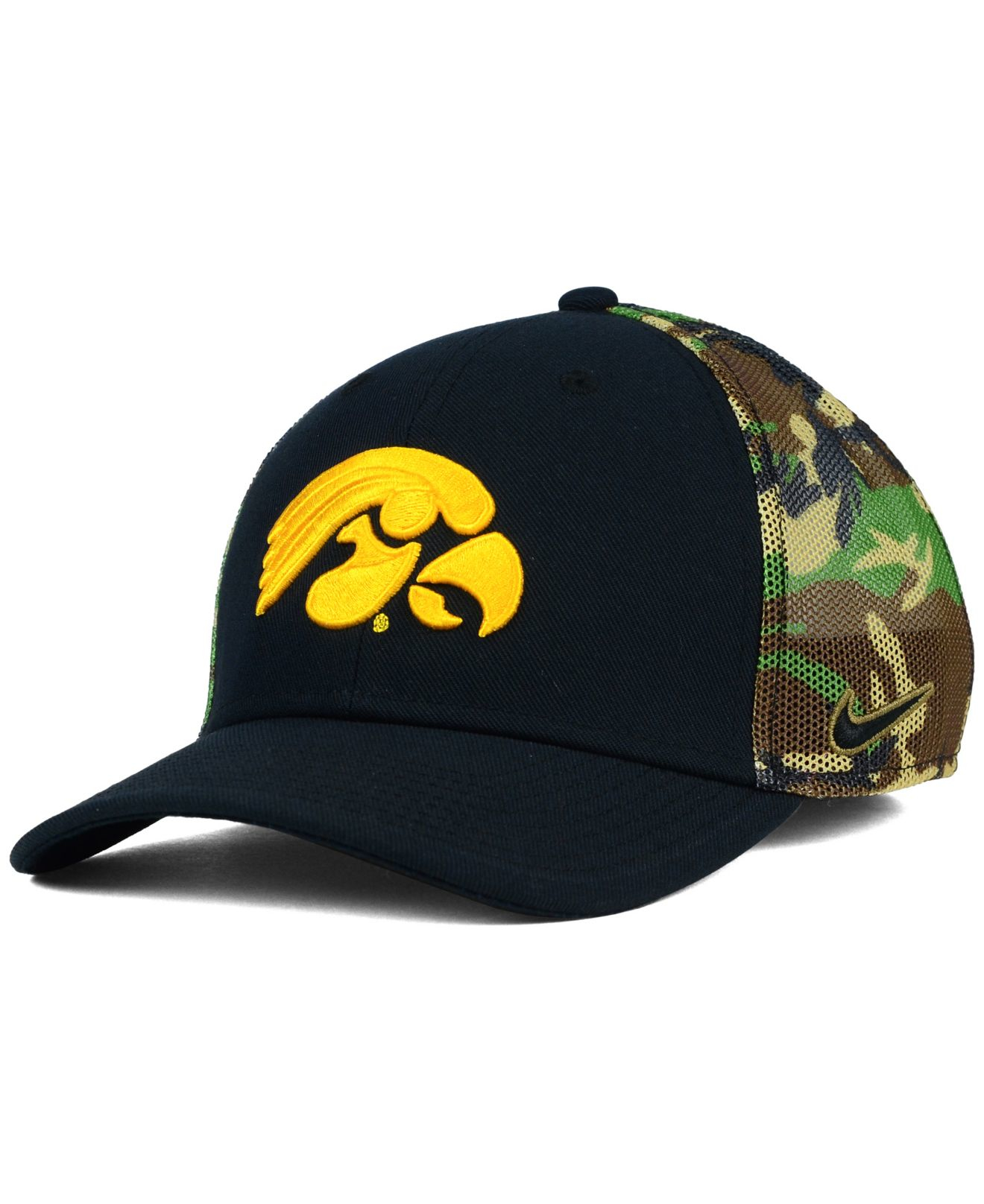 e7a72a1c714 ... discount lyst nike iowa hawkeyes camo hook swooshflex cap in green for  men e7eef ec179
