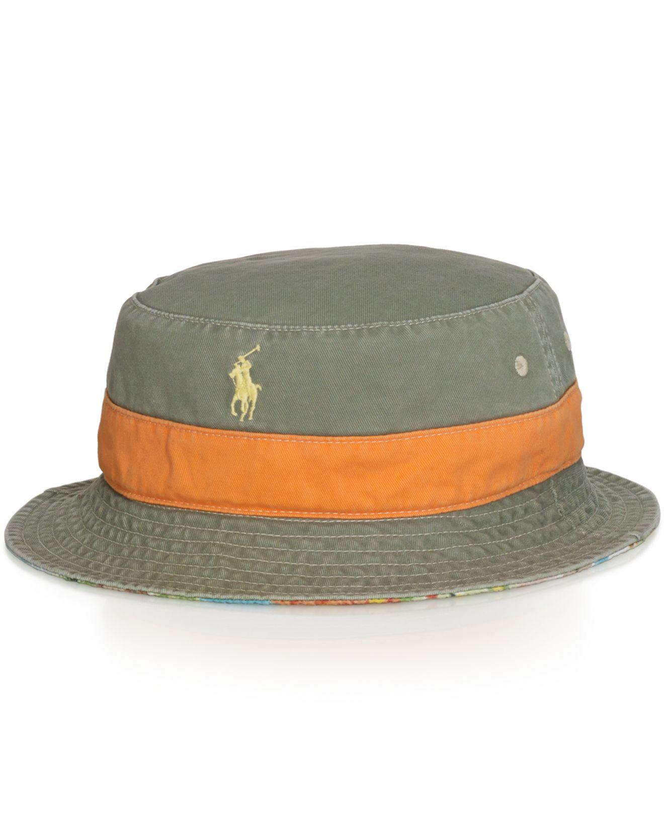 d0549d9e8be Lyst - Polo Ralph Lauren Reversible Bucket Hat for Men
