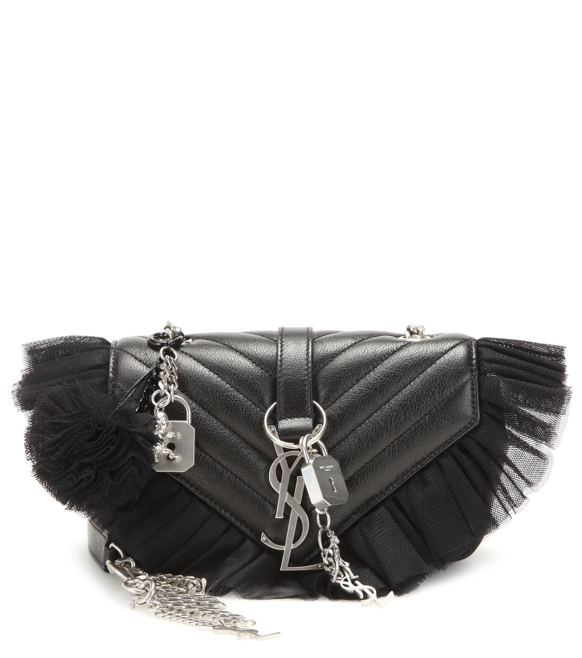 red suede purse - Saint Laurent Classic Baby Monogram Saint Laurent Chain Bag In ...