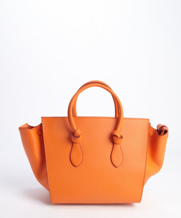 celine orange leather handbag luggage