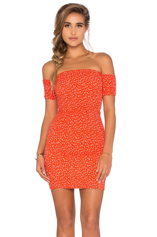 Lyst - Auguste Cocktail Mini Dress in Orange