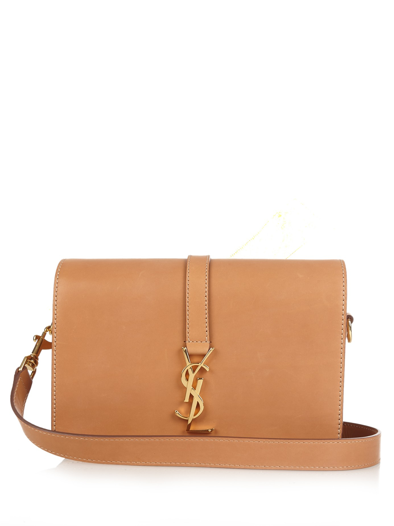 b63ce778fa Lyst - Saint Laurent Université Monogram Leather Cross-body Bag in ...