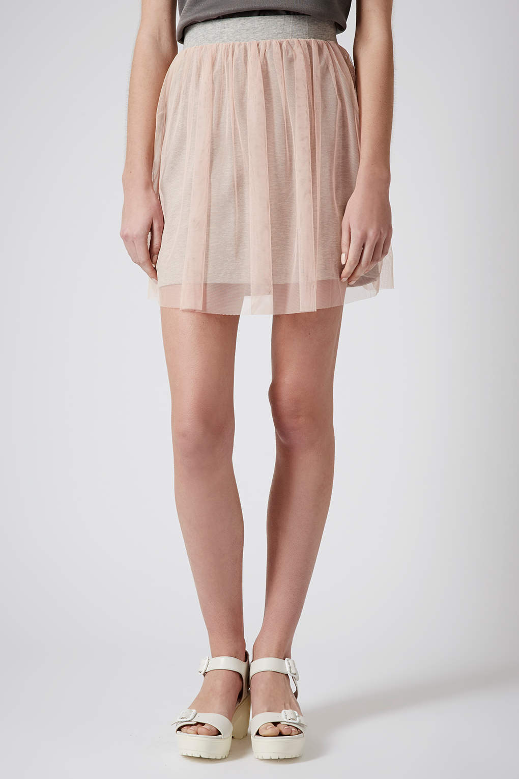 2f80273efa9c TOPSHOP Mini Tulle Skirt in Natural - Lyst