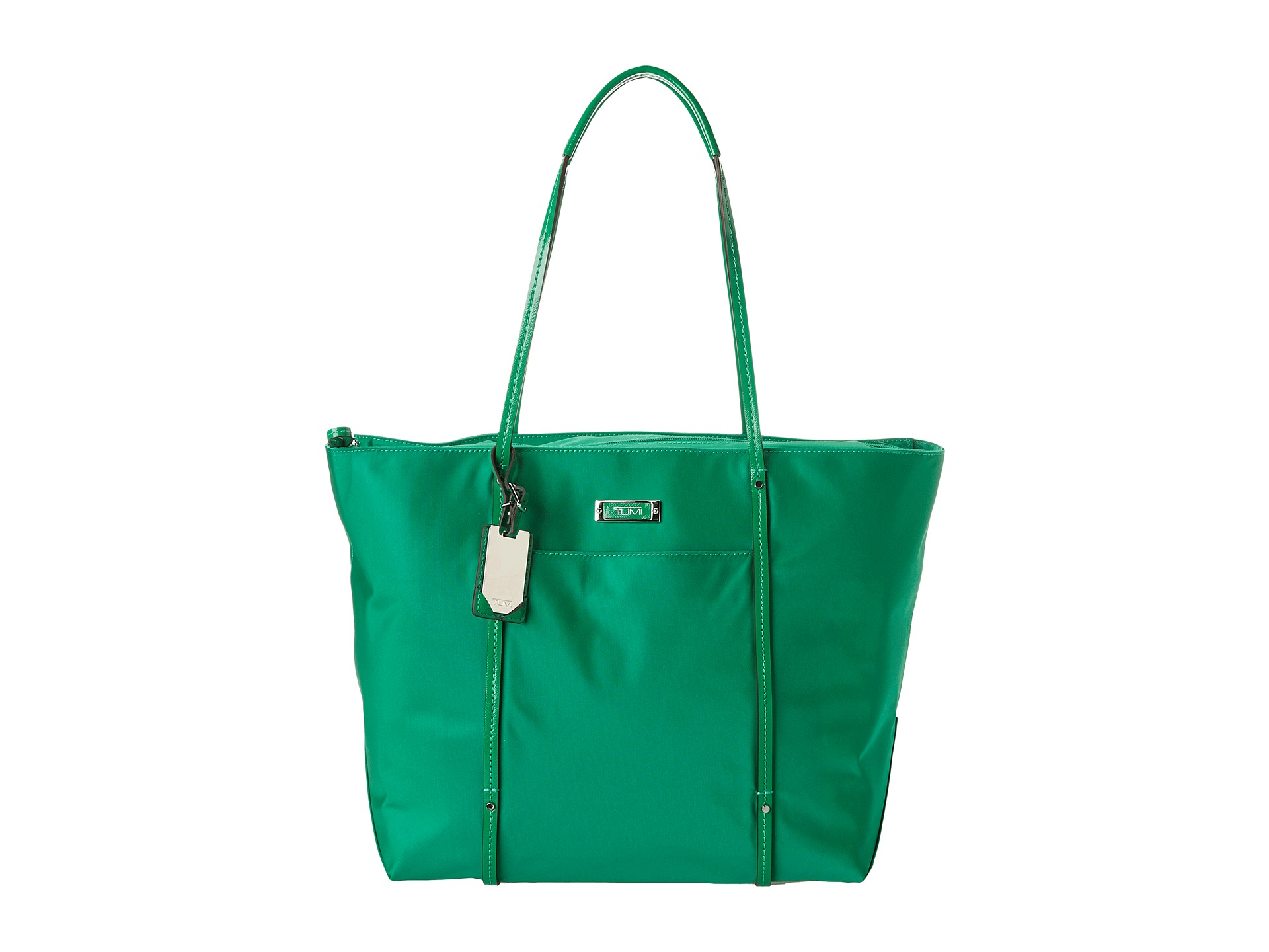 tumi voyageur quintessential tote in green lyst gallery