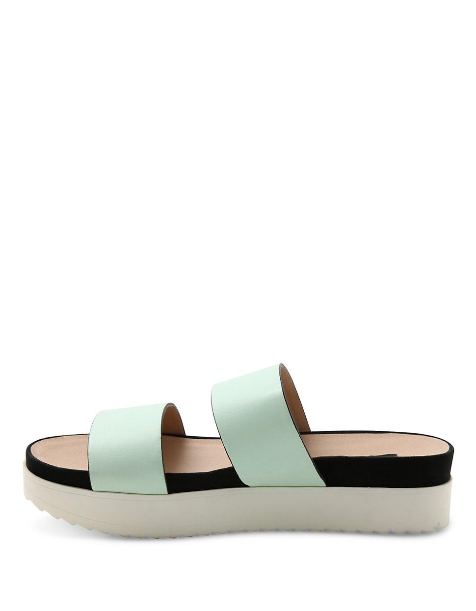 kensie open toe platform sandals in green lyst