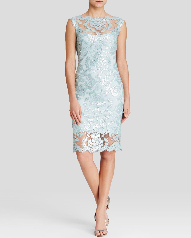Tadashi Illusion Lace Gown – fashion dresses
